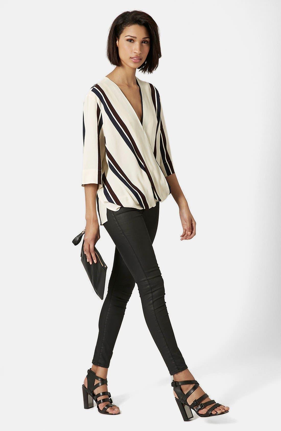 Alternate Image 5  - Topshop Drape Front Blouse