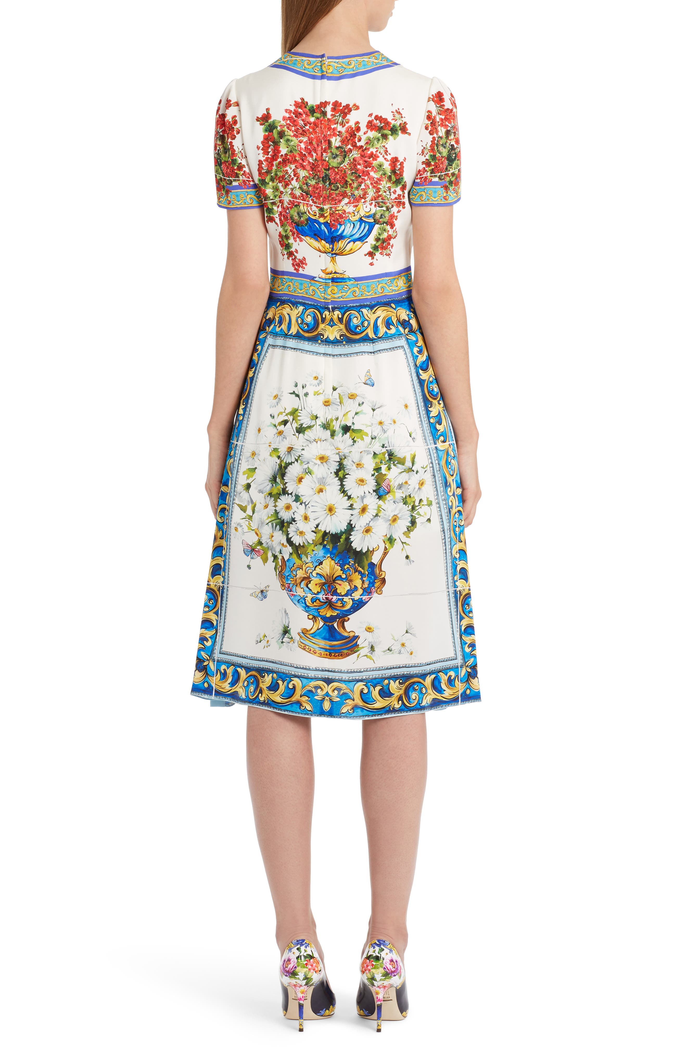 Alternate Image 2  - Dolce&Gabbana Print Silk Fit & Flare Dress