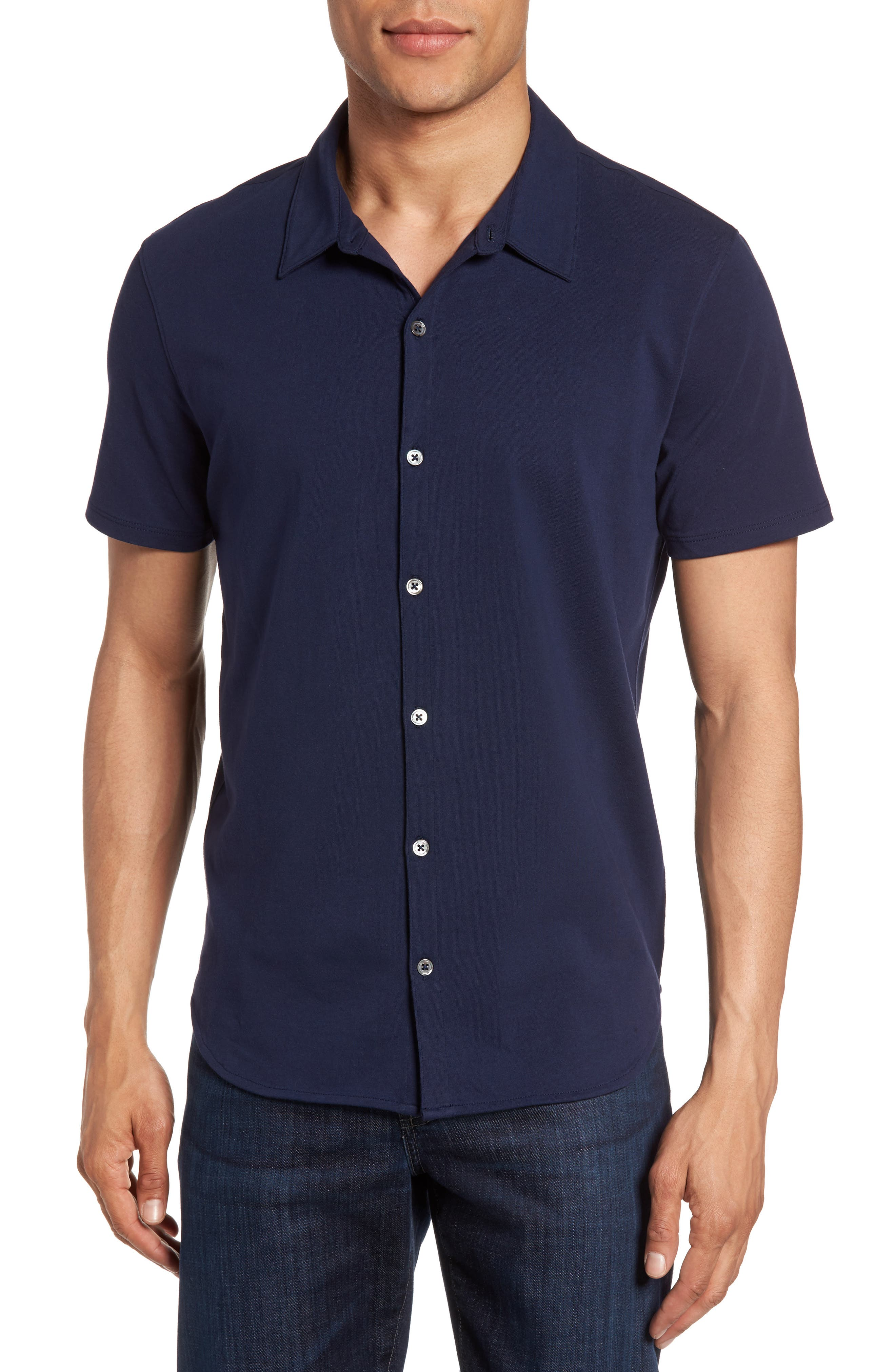 Zachary Prell Knit Short Sleeve Sport Shirt