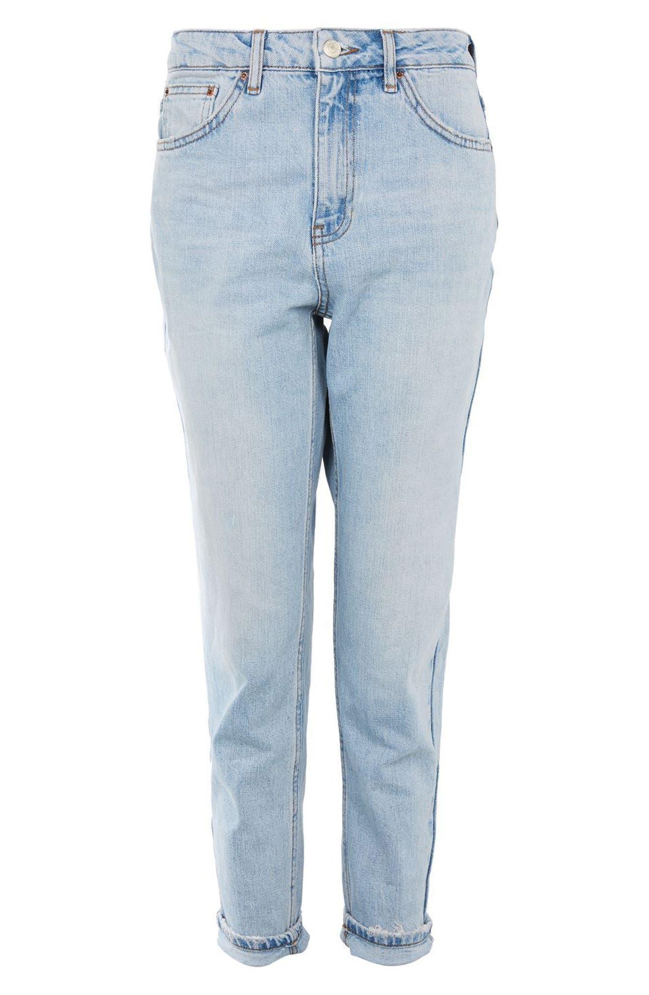 Alternate Image 4  - Topshop Mom Jeans (Petite)