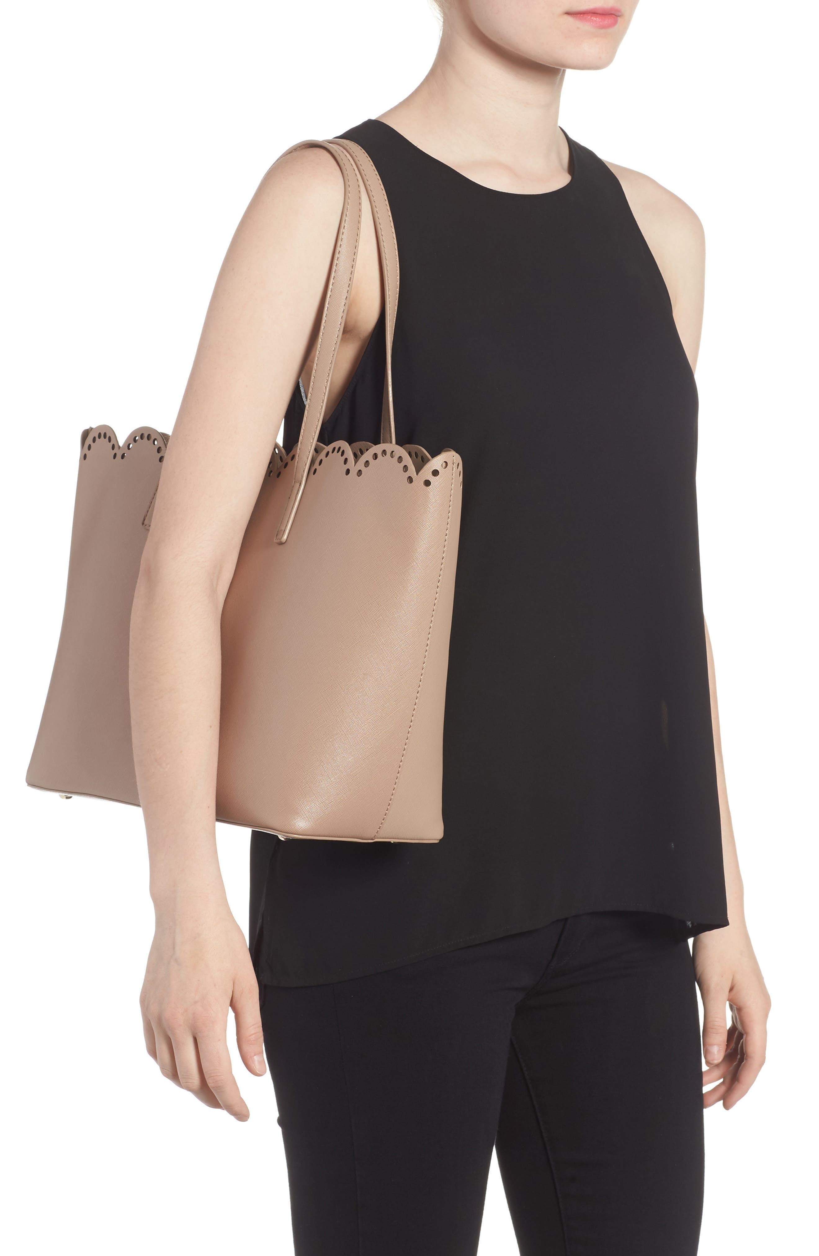 Alternate Image 2  - BP. Scalloped Faux Leather Tote