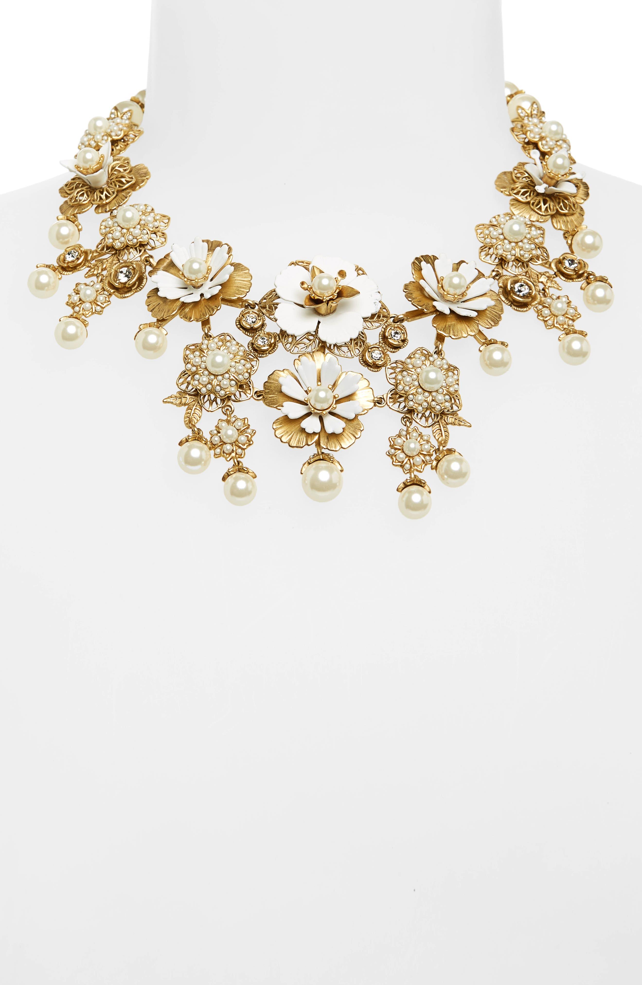 Alternate Image 2  - Marchesa Pure Petals Drama Collar Necklace