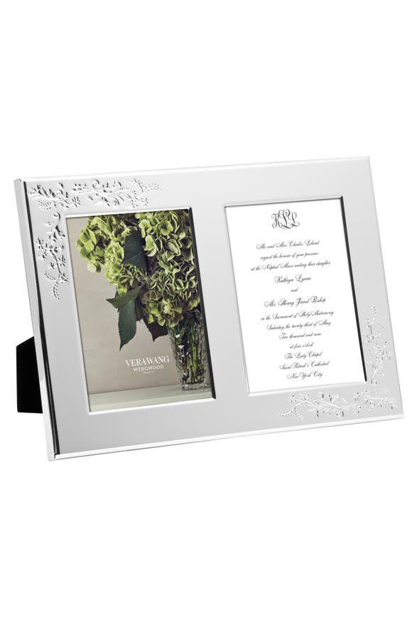 main image vera wang x wedgwood bouquet double invitation picture frame