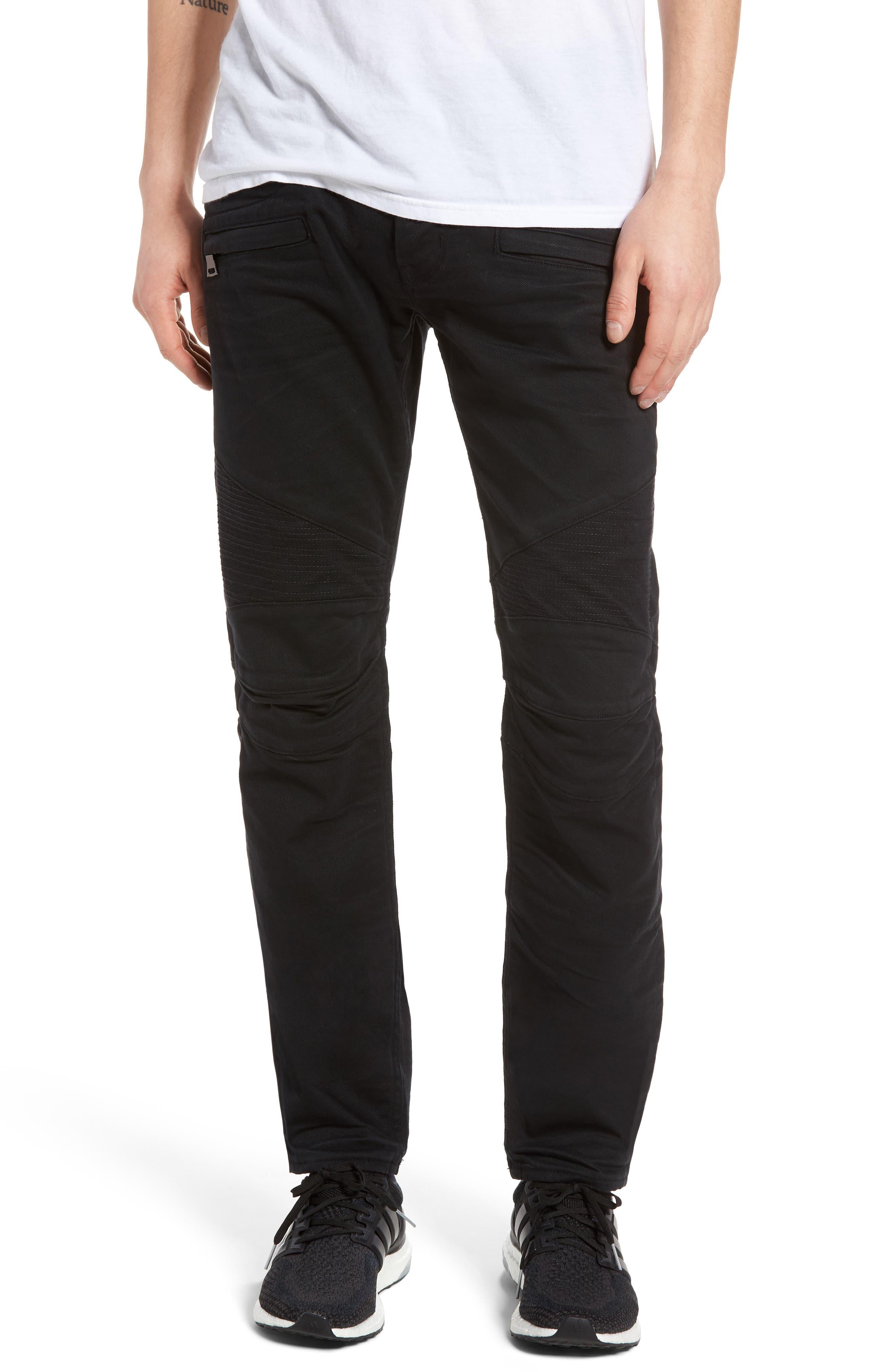 Hudson Jeans Blinder Biker Skinny Fit Jeans (Blacklight)