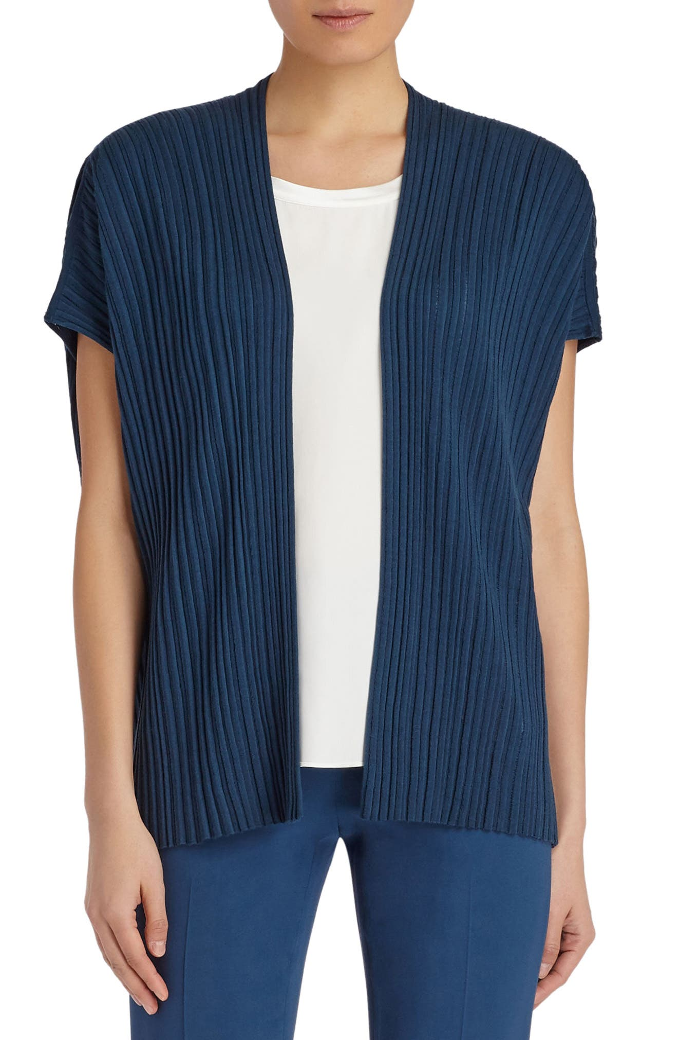 LAFAYETTE 148 NEW YORK Pleated Sweater Vest