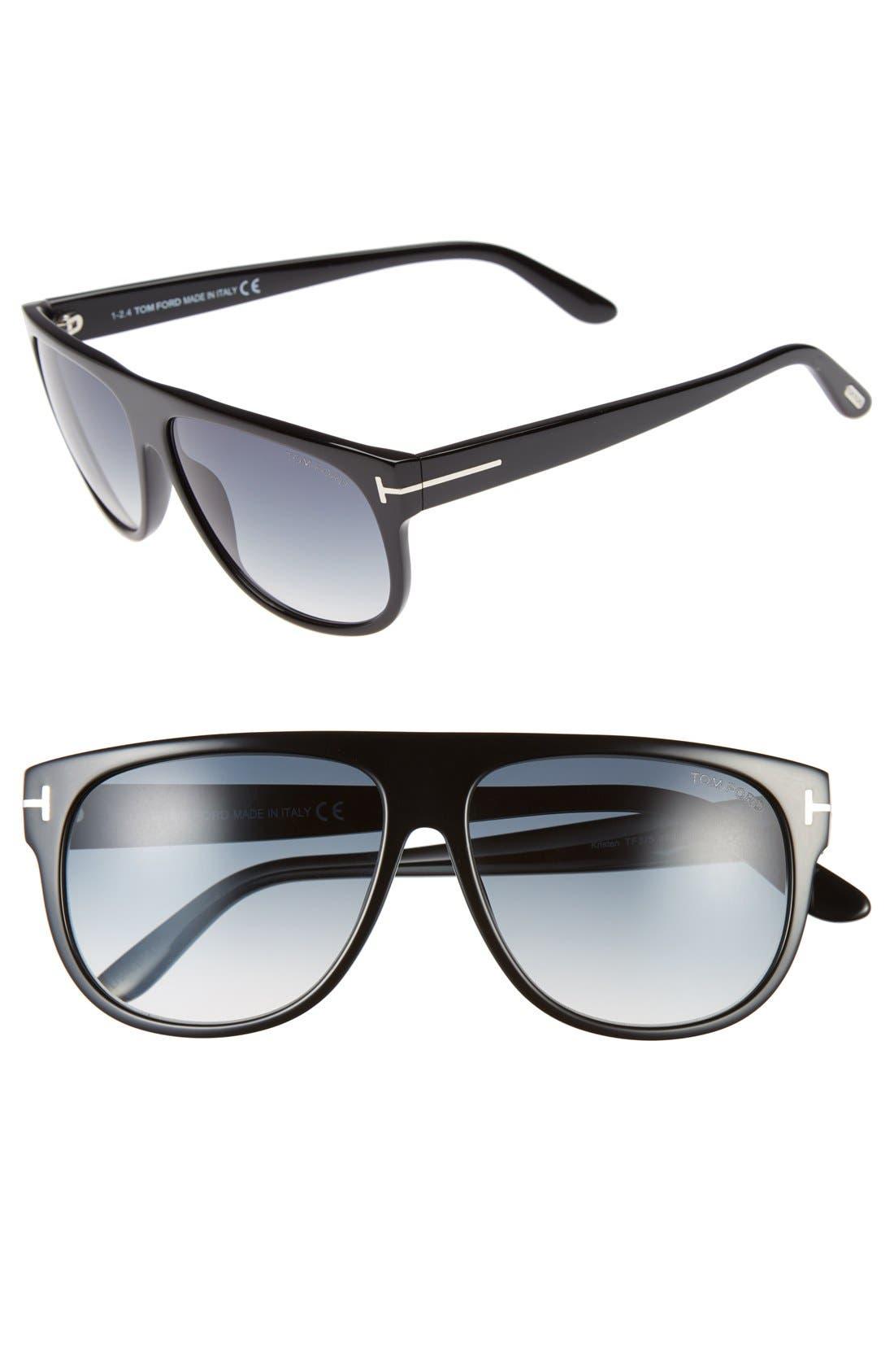 Tom Ford 'Kristen' 59mm Aviator Sunglasses