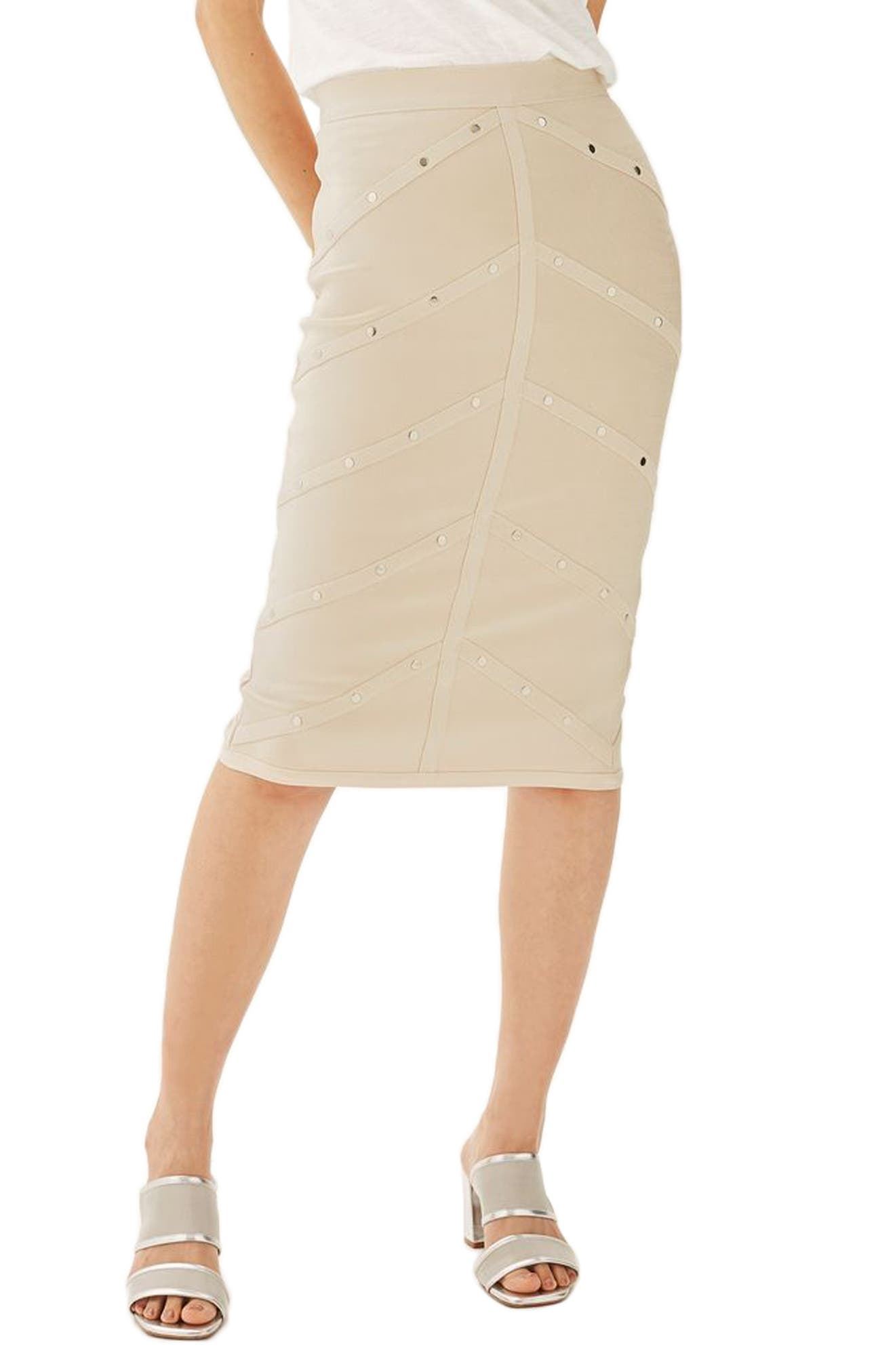 Topshop Stud Bandage Pencil Skirt (Petite)