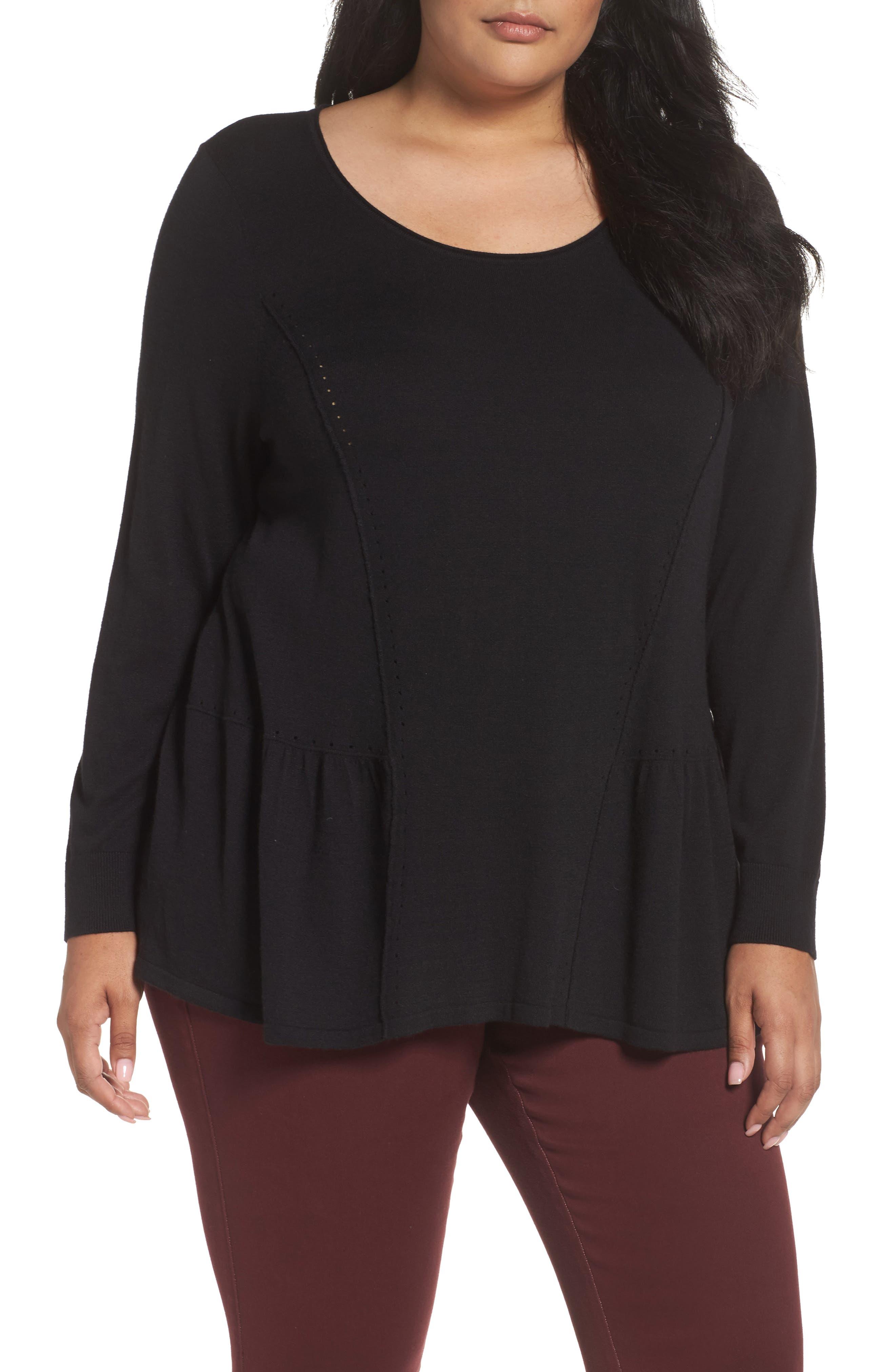 Sejour Peplum Sweater (Plus Size)