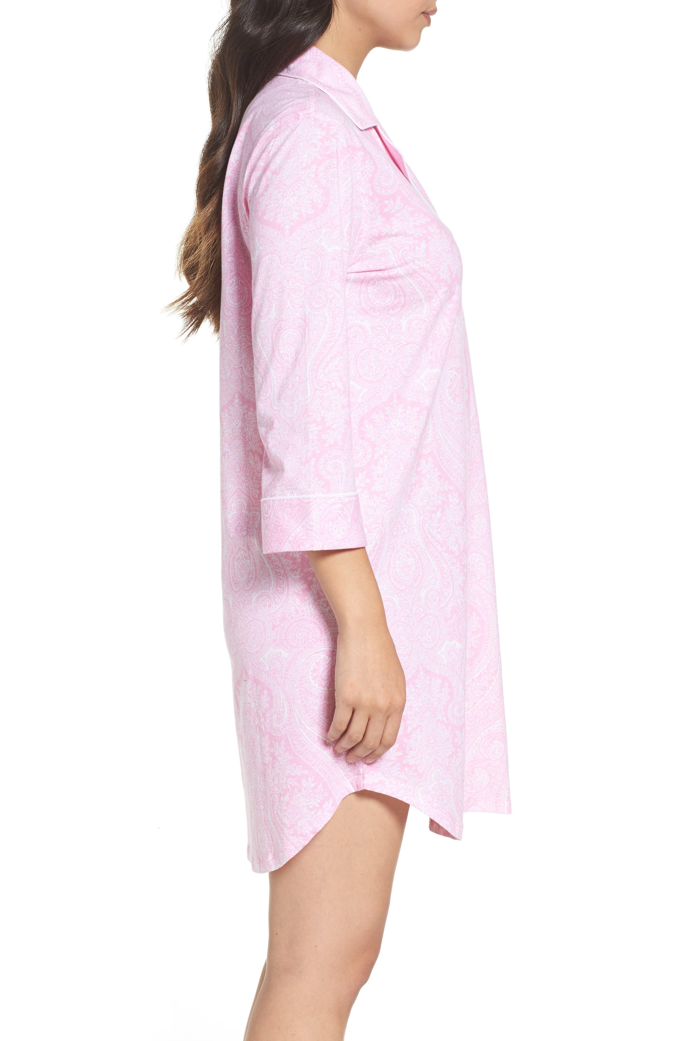 Alternate Image 3  - Lauren Ralph Lauren Jersey Sleep Shirt (Online Only)