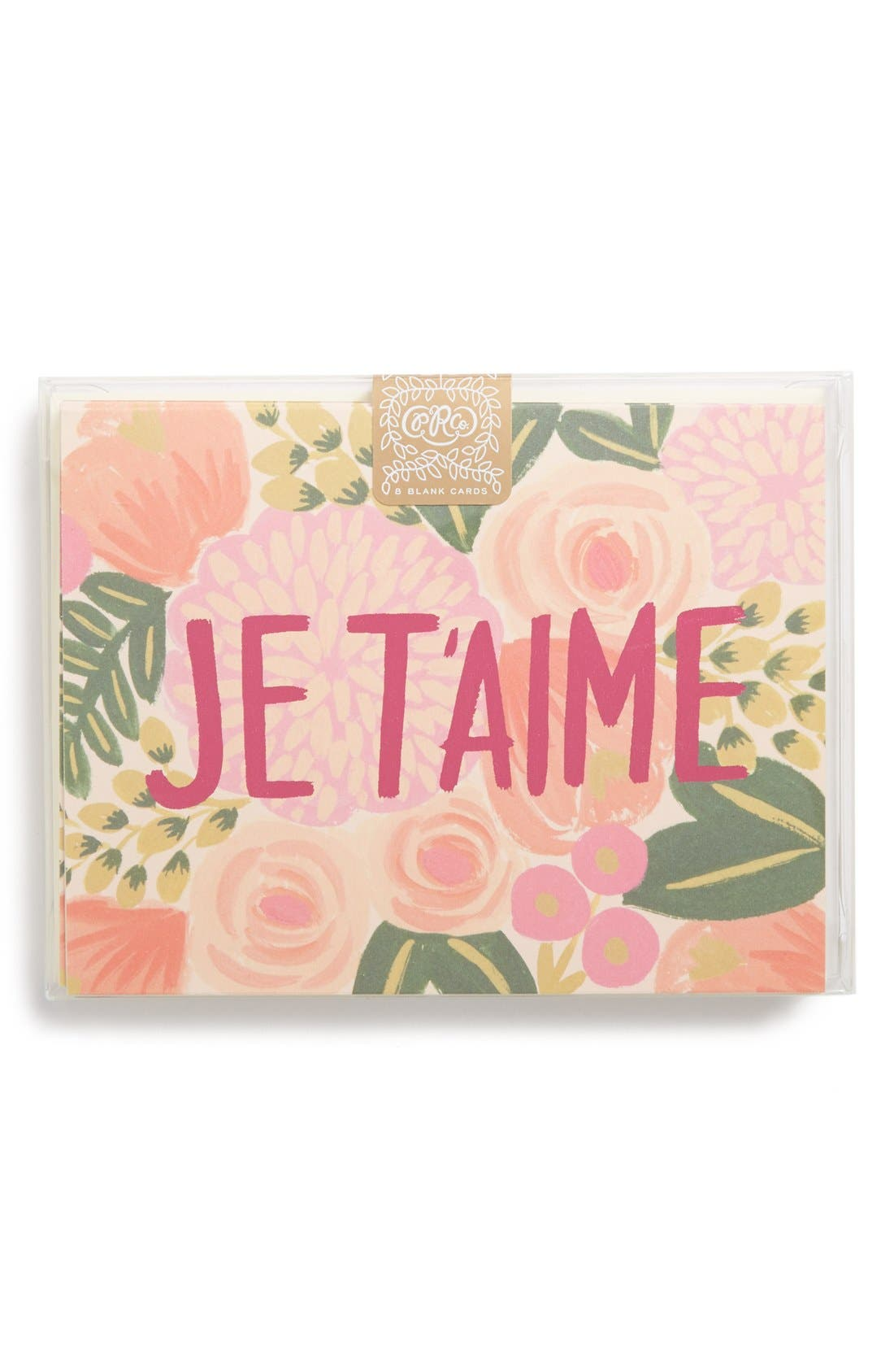 Alternate Image 1 Selected - Rifle Paper Co. 'JE T'AIME' Note Cards (Set of 8)