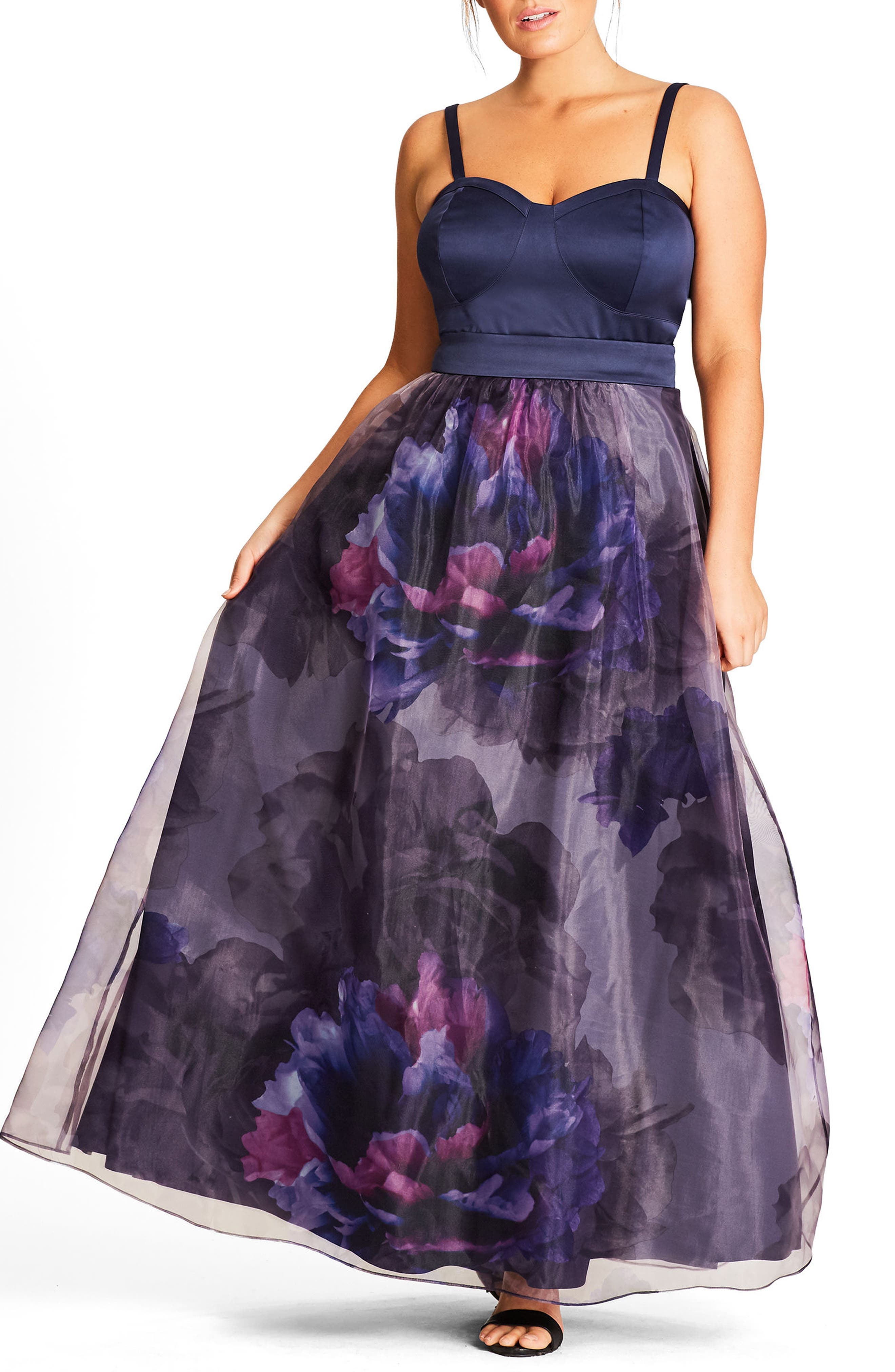 City Chic Majestic Floral Ballgown Skirt (Plus Size)