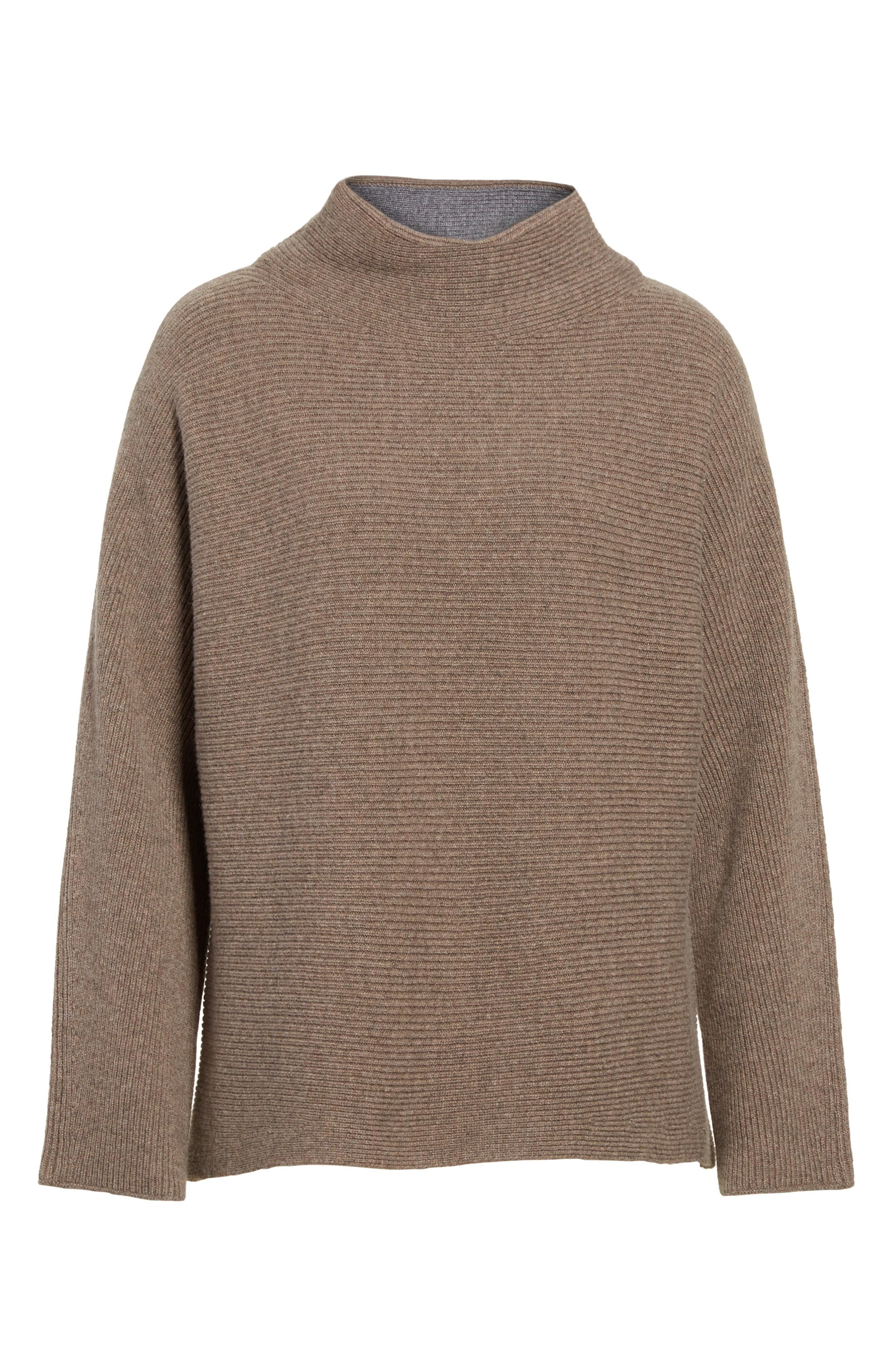 Alternate Image 6  - Vince Ribbed Wool & Cashmere Sweater