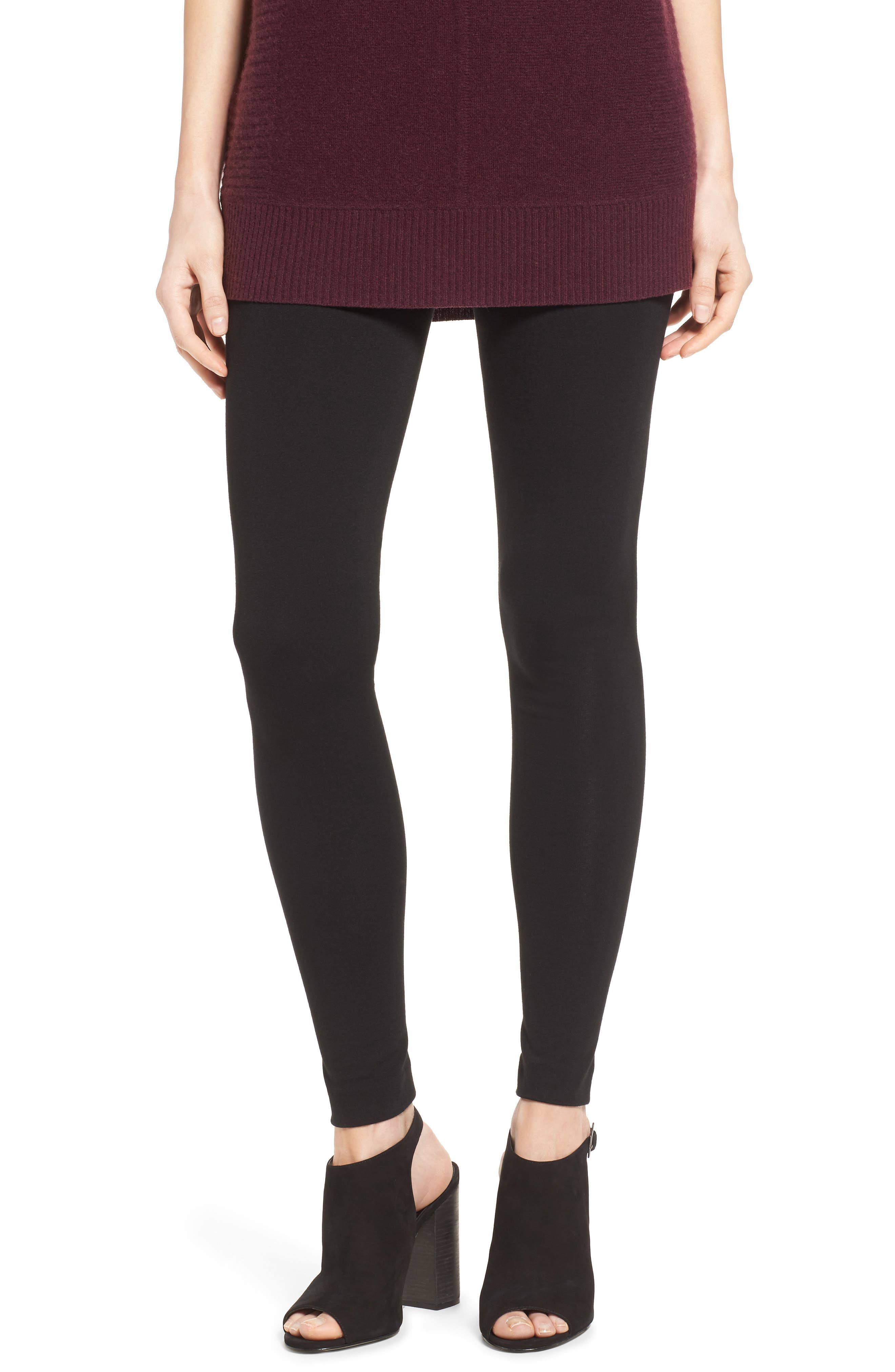 Alternate Image 1 Selected - Two by Vince Camuto Seamed Back Leggings (Regular & Petite)