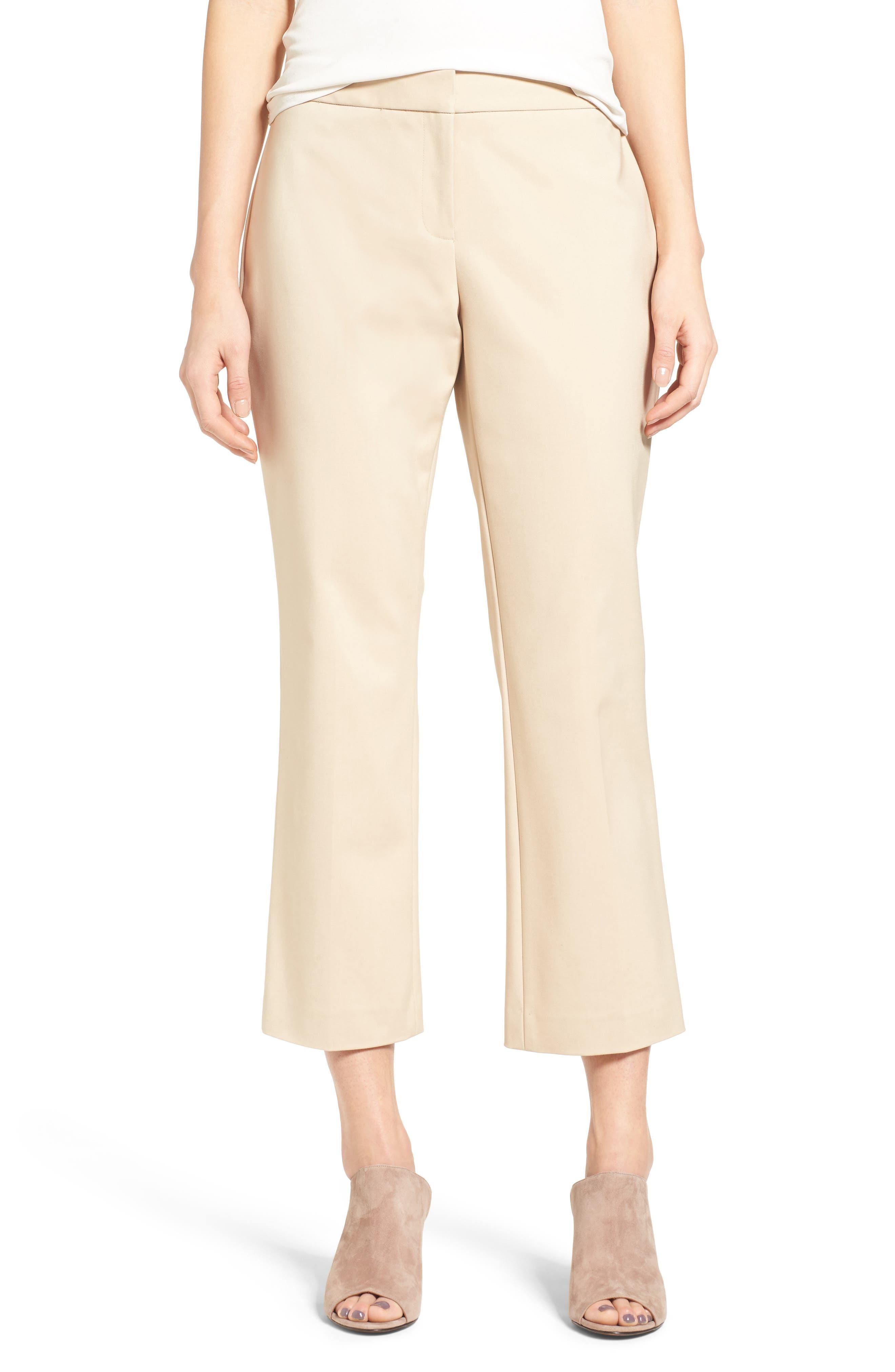 Vince Camuto Crop Straight Leg Pants (Regular & Petite)
