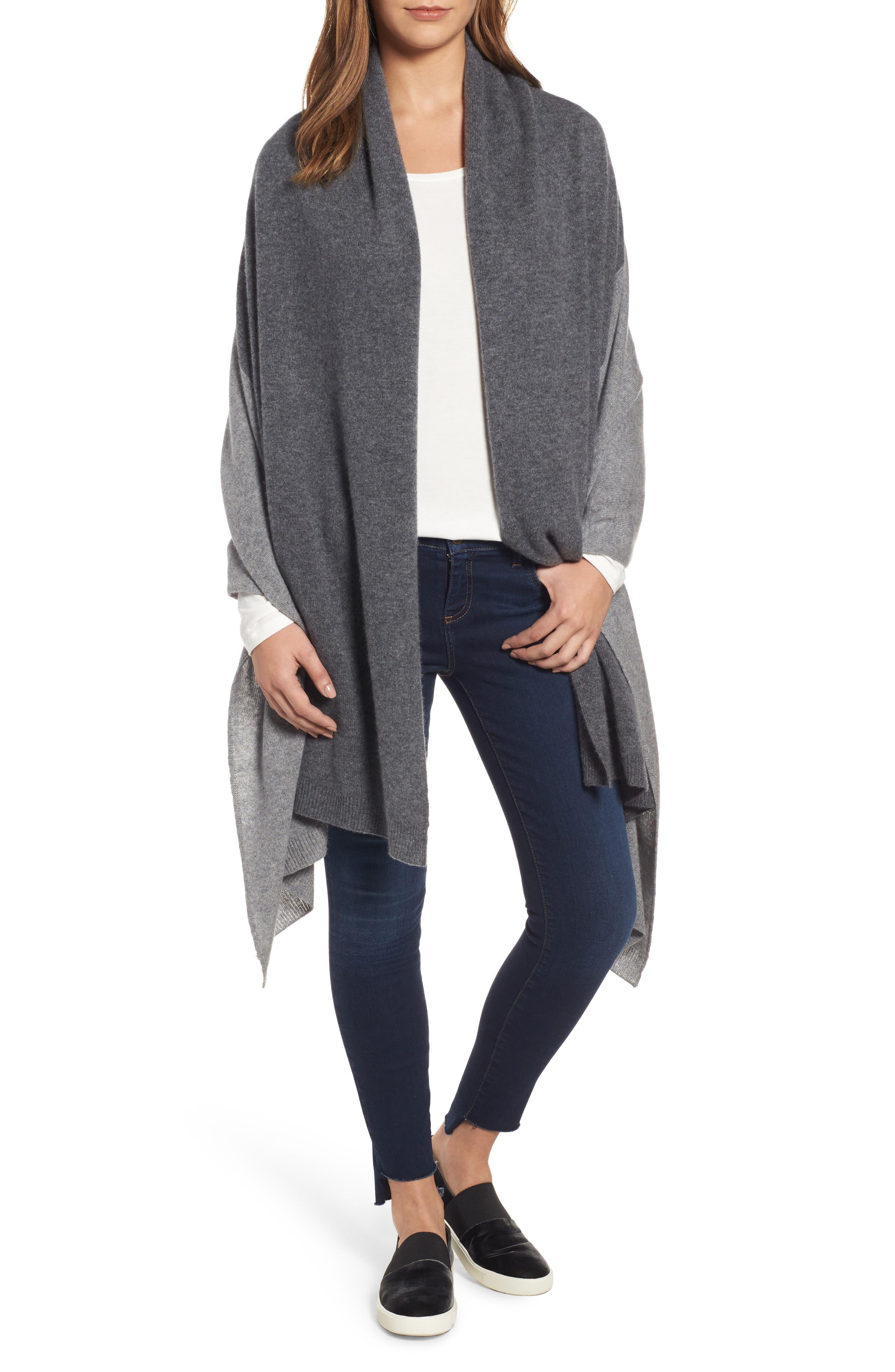 Halogen® Colorblock Cashmere Wrap