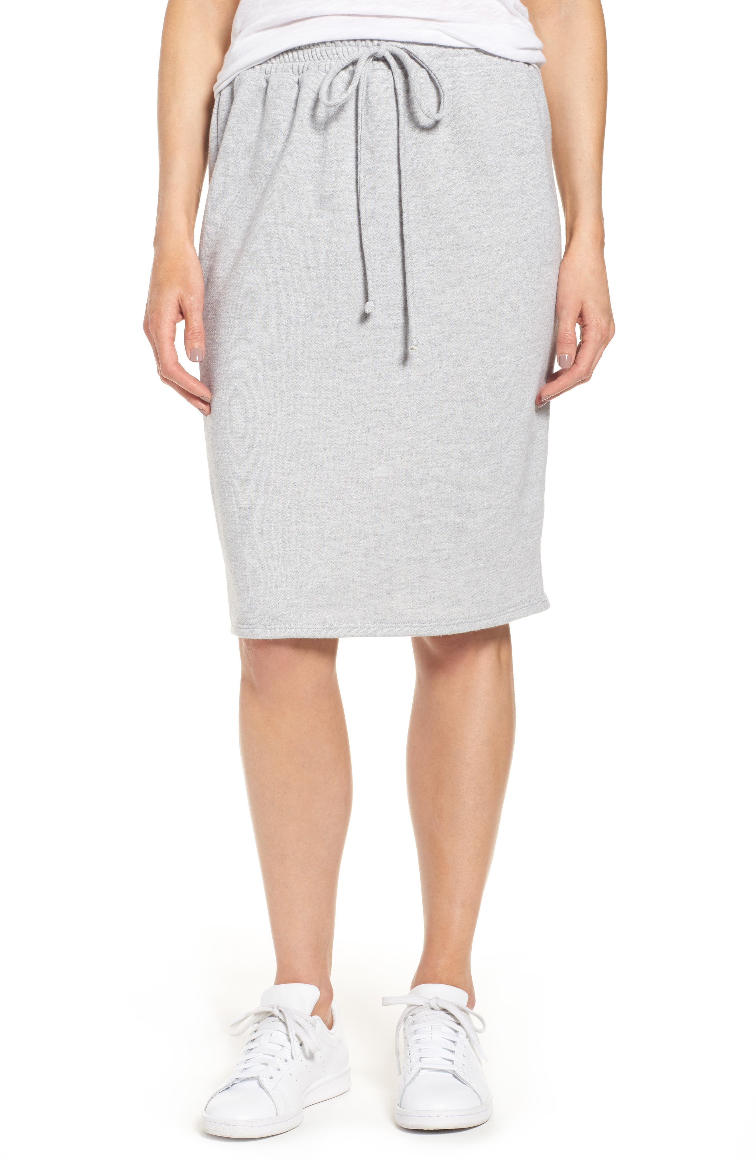 Caslon® Fleece Sweatshirt Skirt (Regular & Petite)