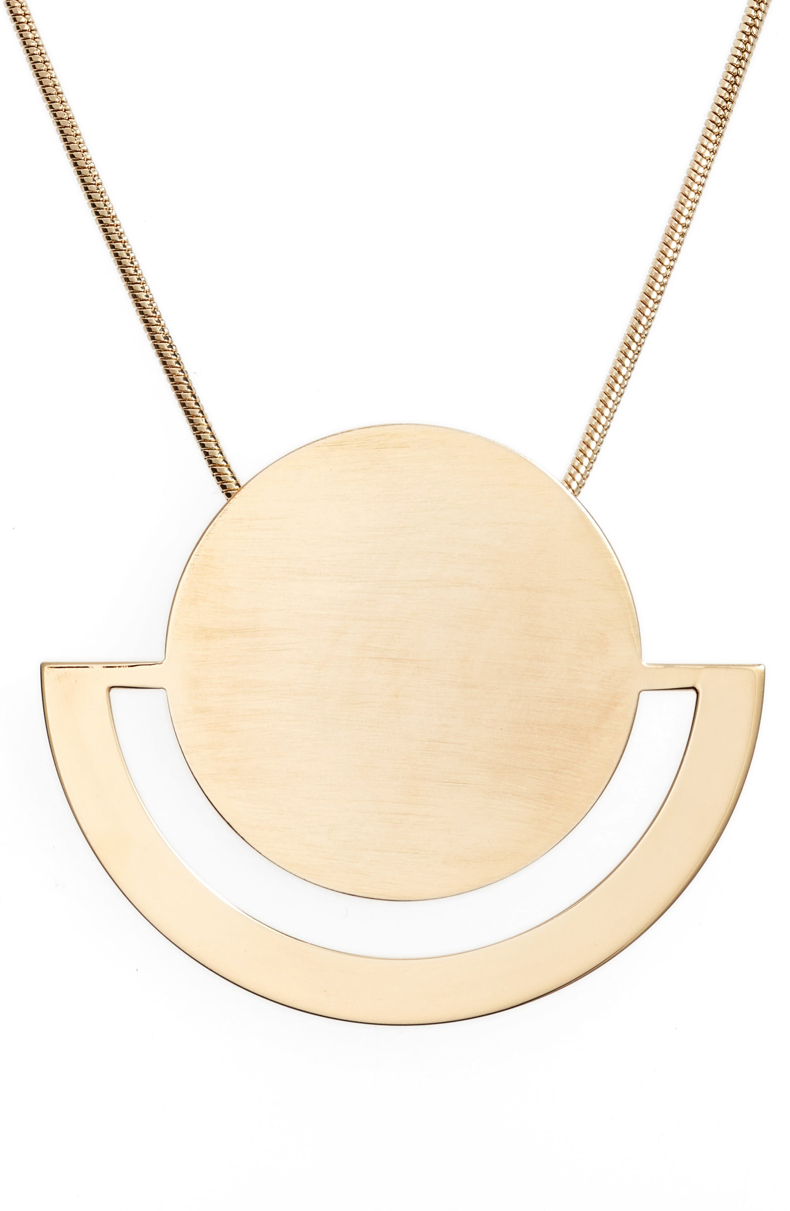 Halogen® Horizon Disc Pendant Necklace