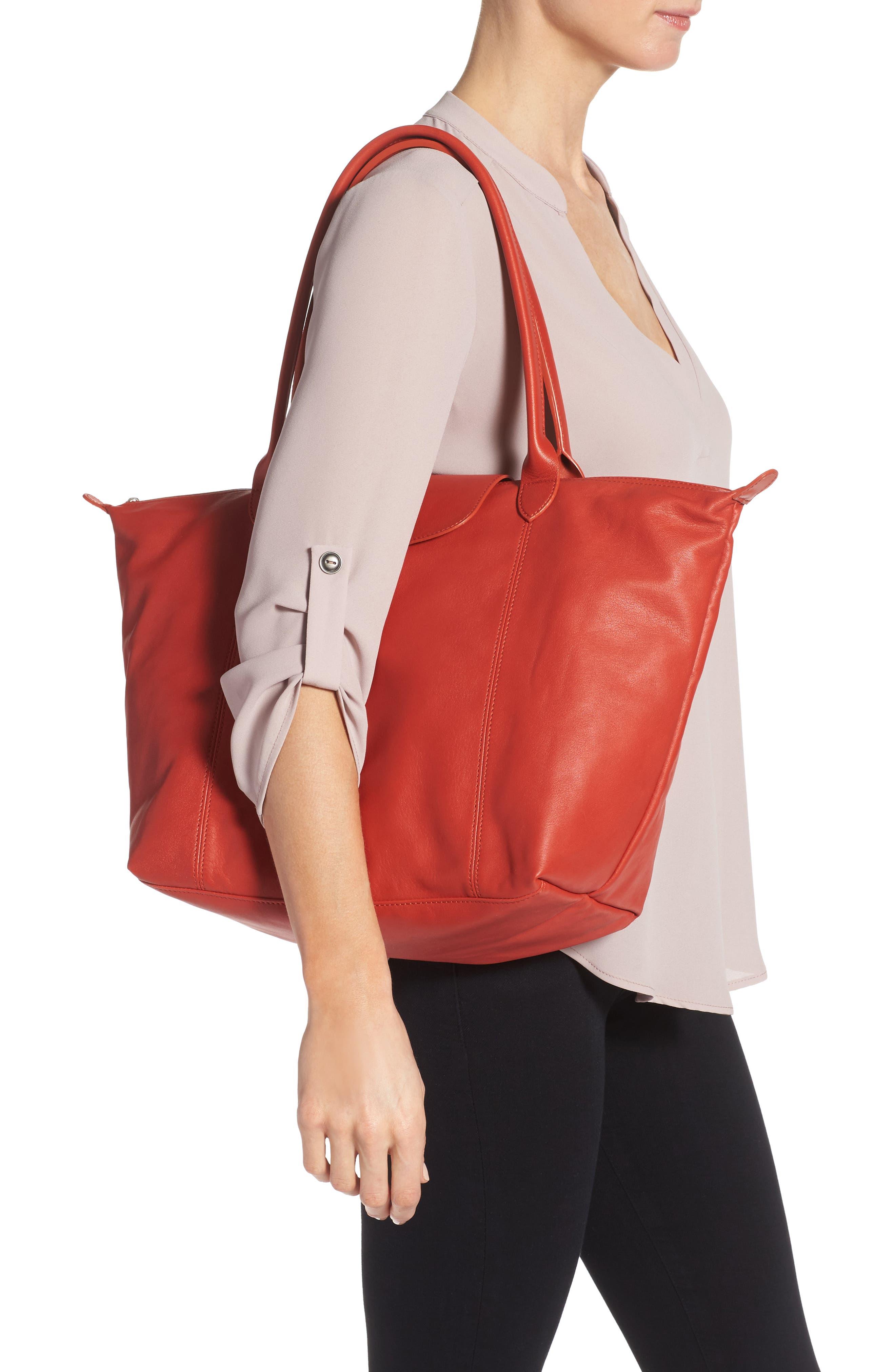 Alternate Image 2  - Longchamp 'Le Pliage Cuir' Leather Tote