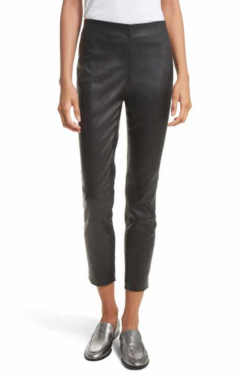 rag   bone Simone Lambskin Leather Ankle Pants