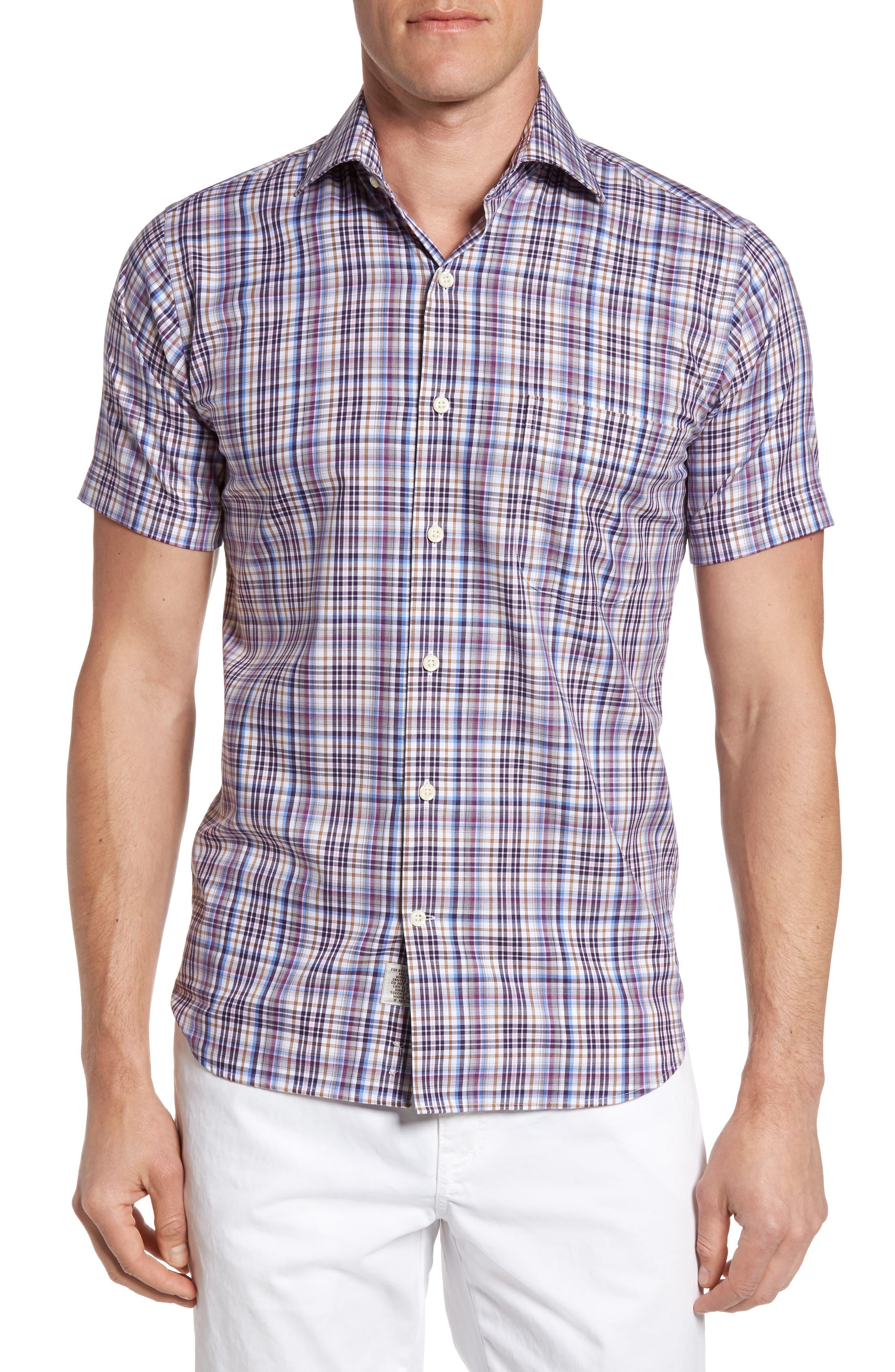 Peter Millar Destination Plaid Short Sleeve Sport Shirt