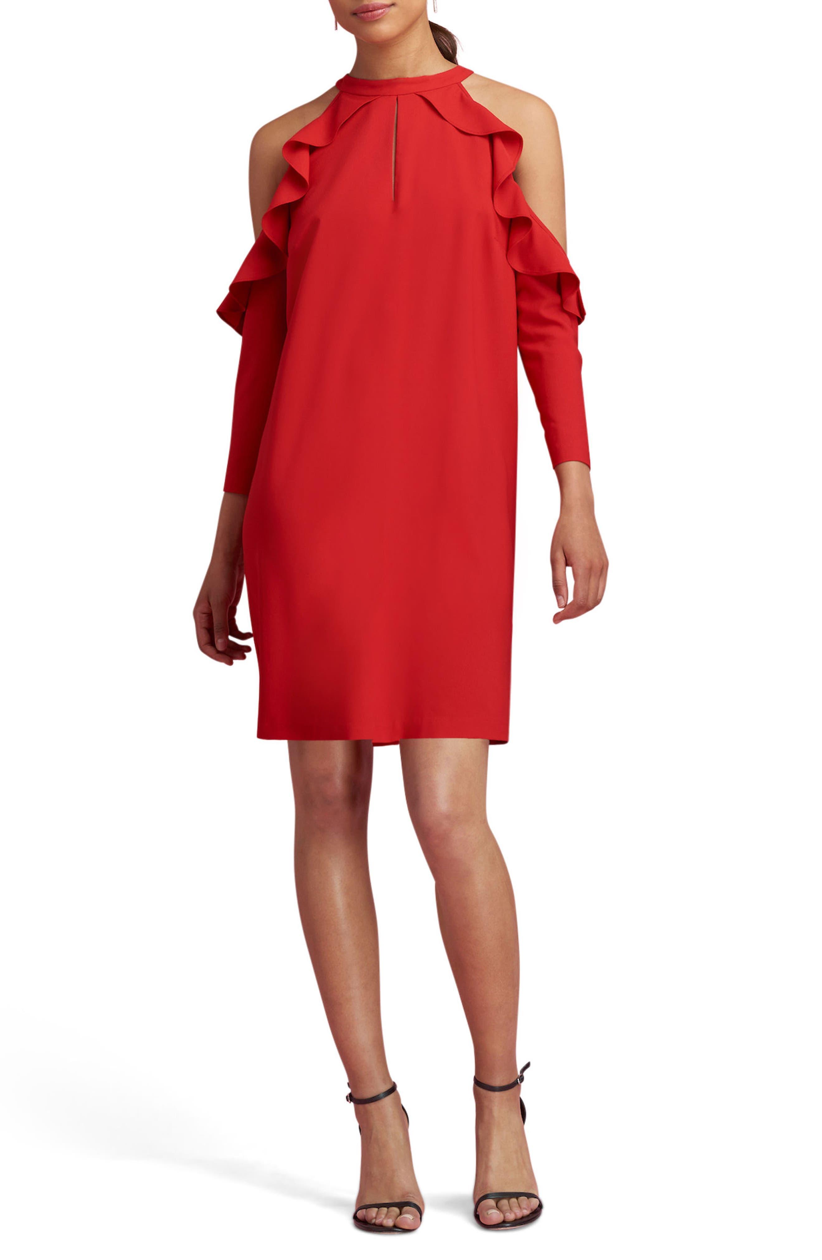 ECI Cold Shoulder Shift Dress