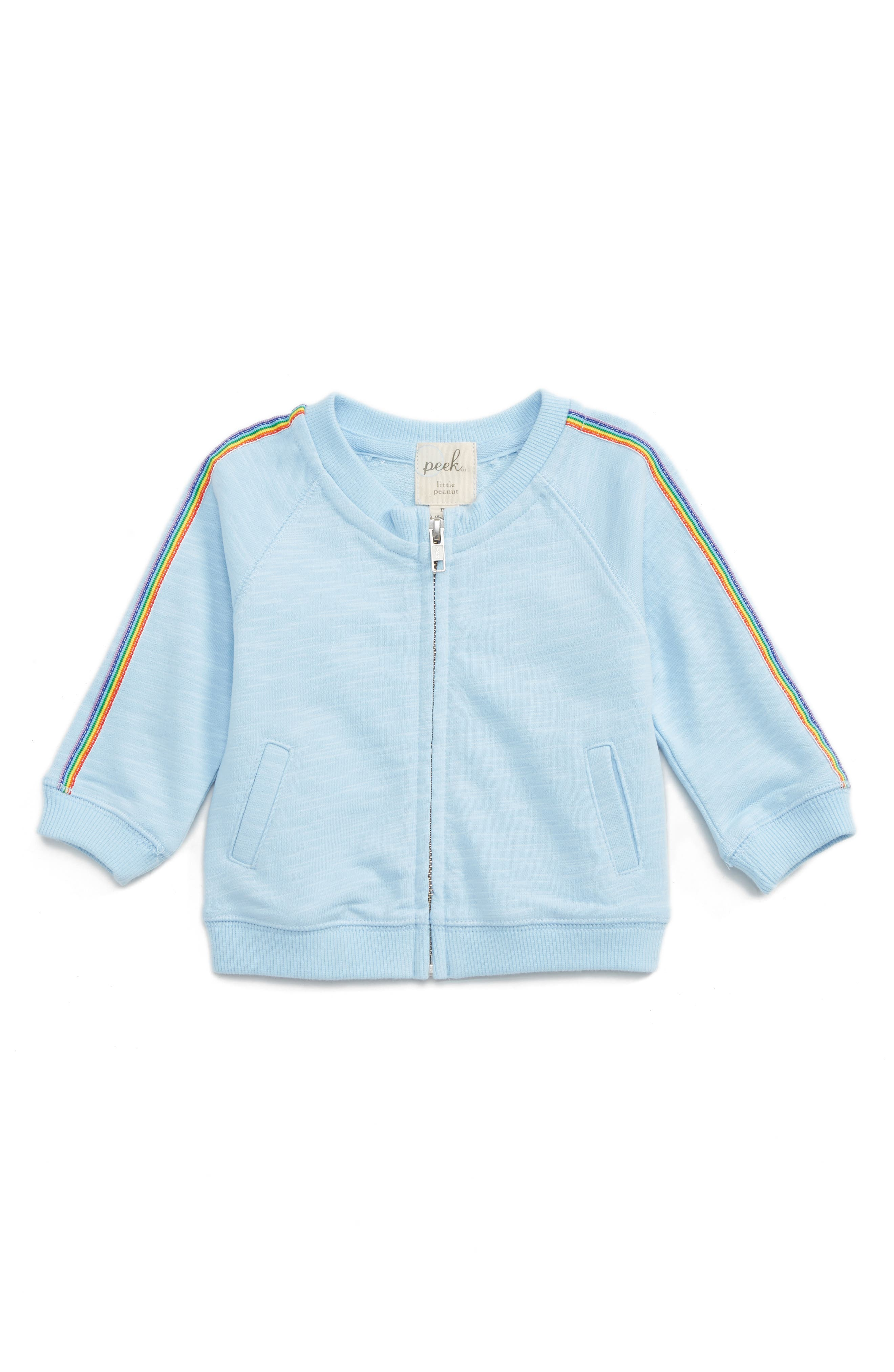 Peek Rainbow Trim Track Jacket (Baby Girls)
