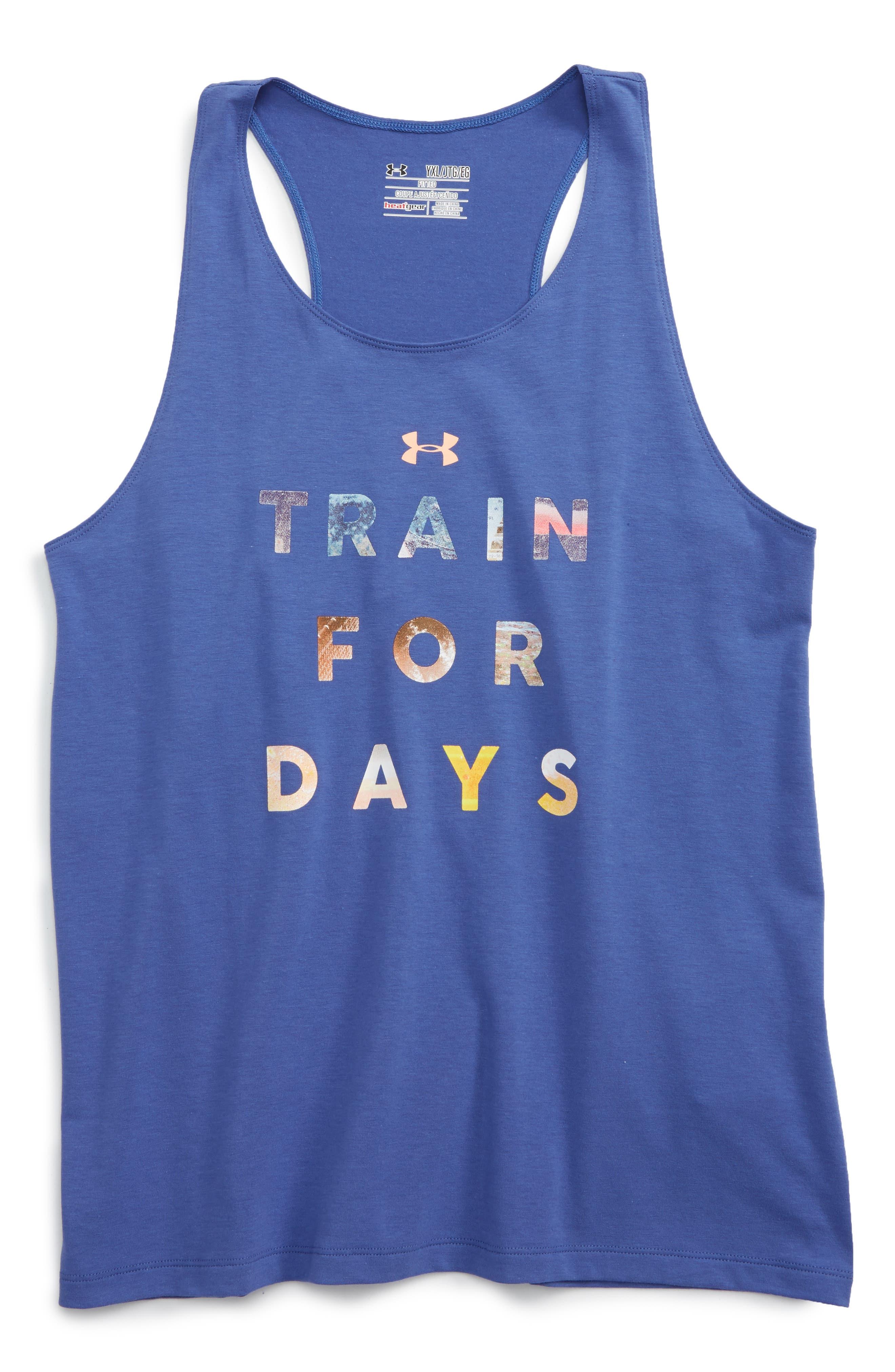 Under Armour HeatGear® Train For Days Tee (Big Girls)