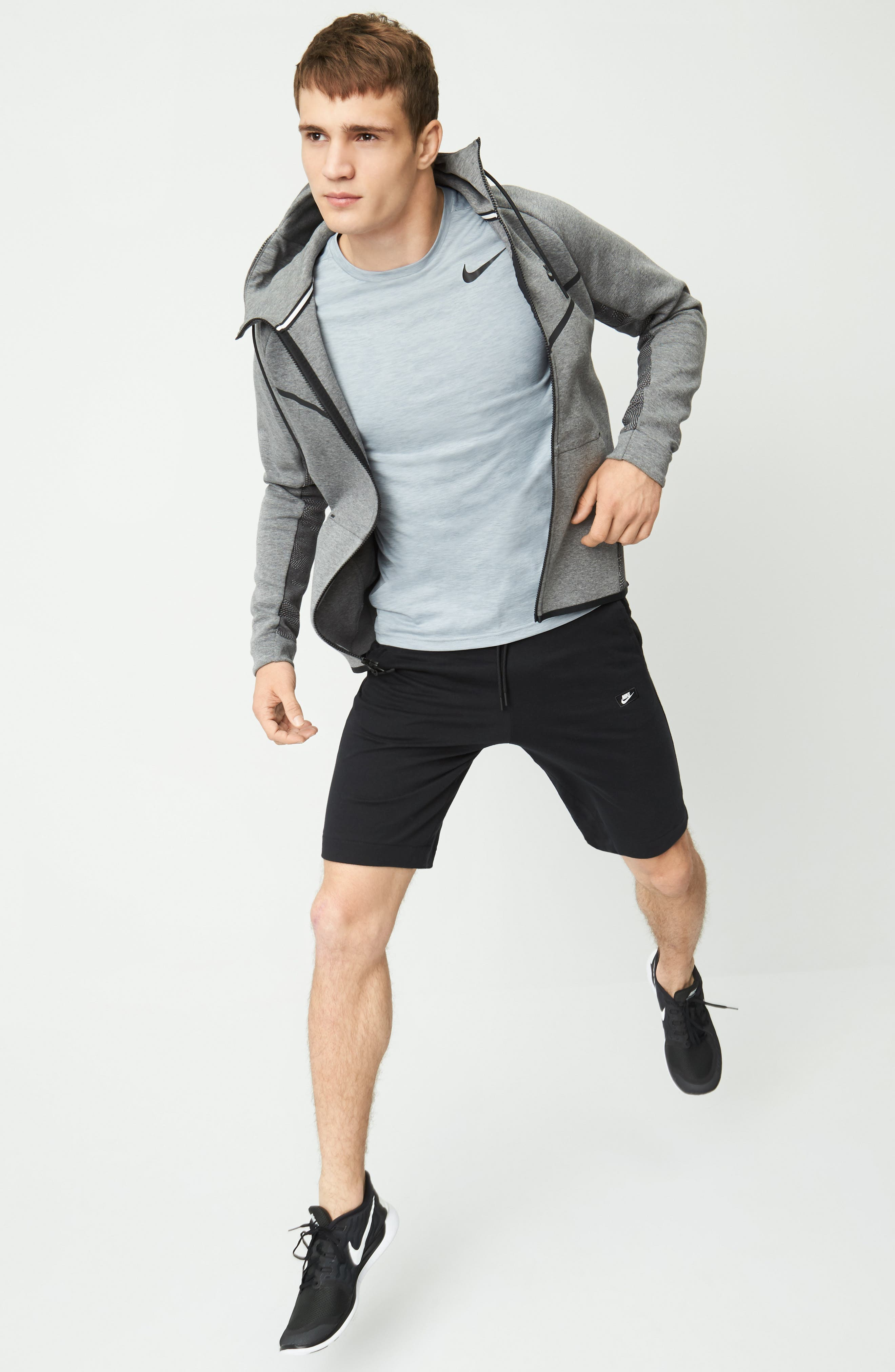 Nike Hoodie, T-Shirt & Shorts Outfit with Accessories