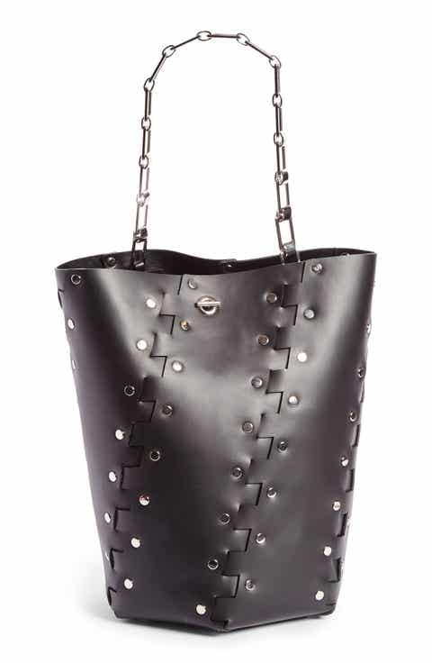 Proenza Schouler Medium Hex Studded Leather Bucket Bag