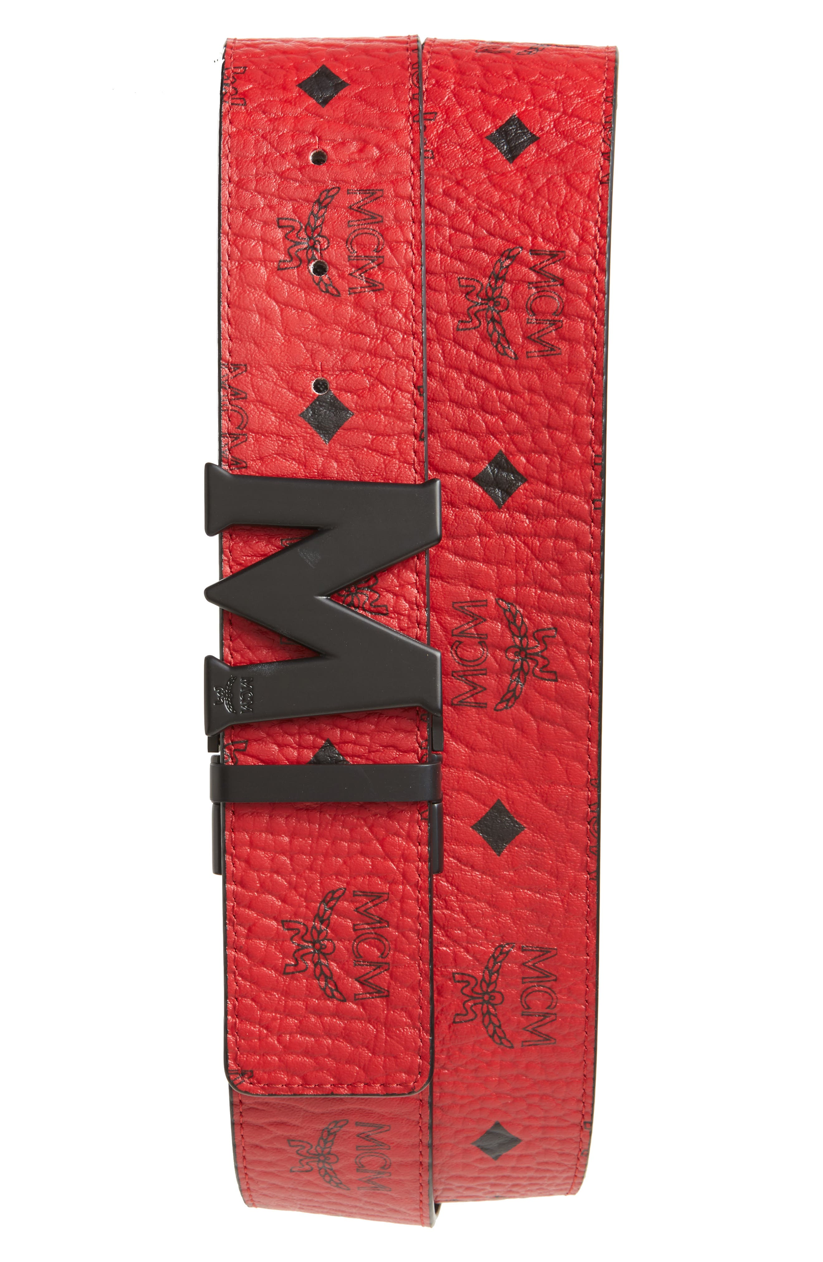 Main Image - MCM Reversible Signature Leather Belt