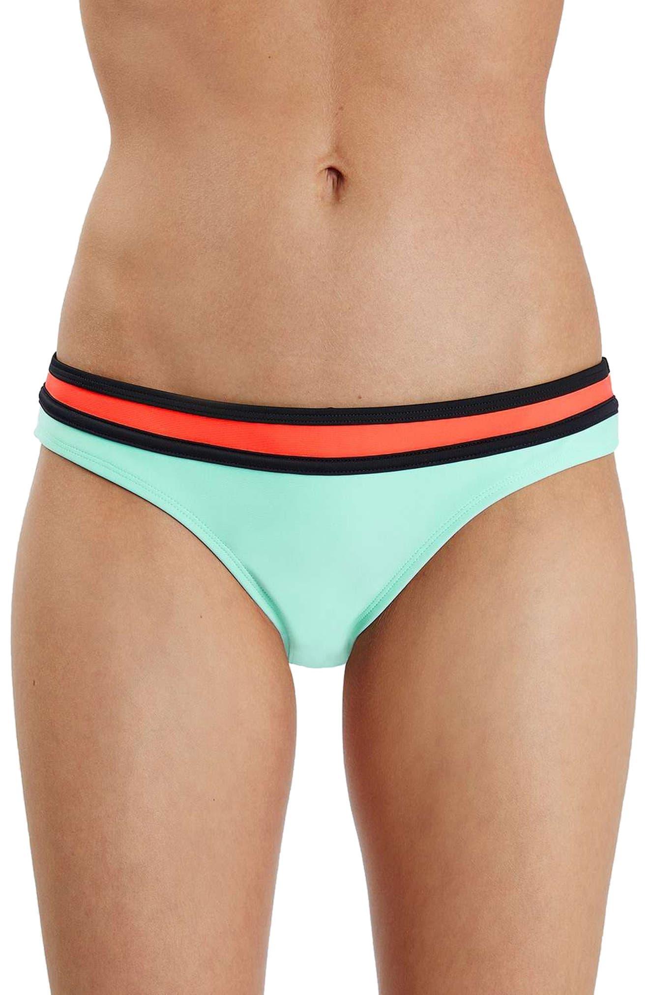 Topshop Colorblock Bikini Bottoms