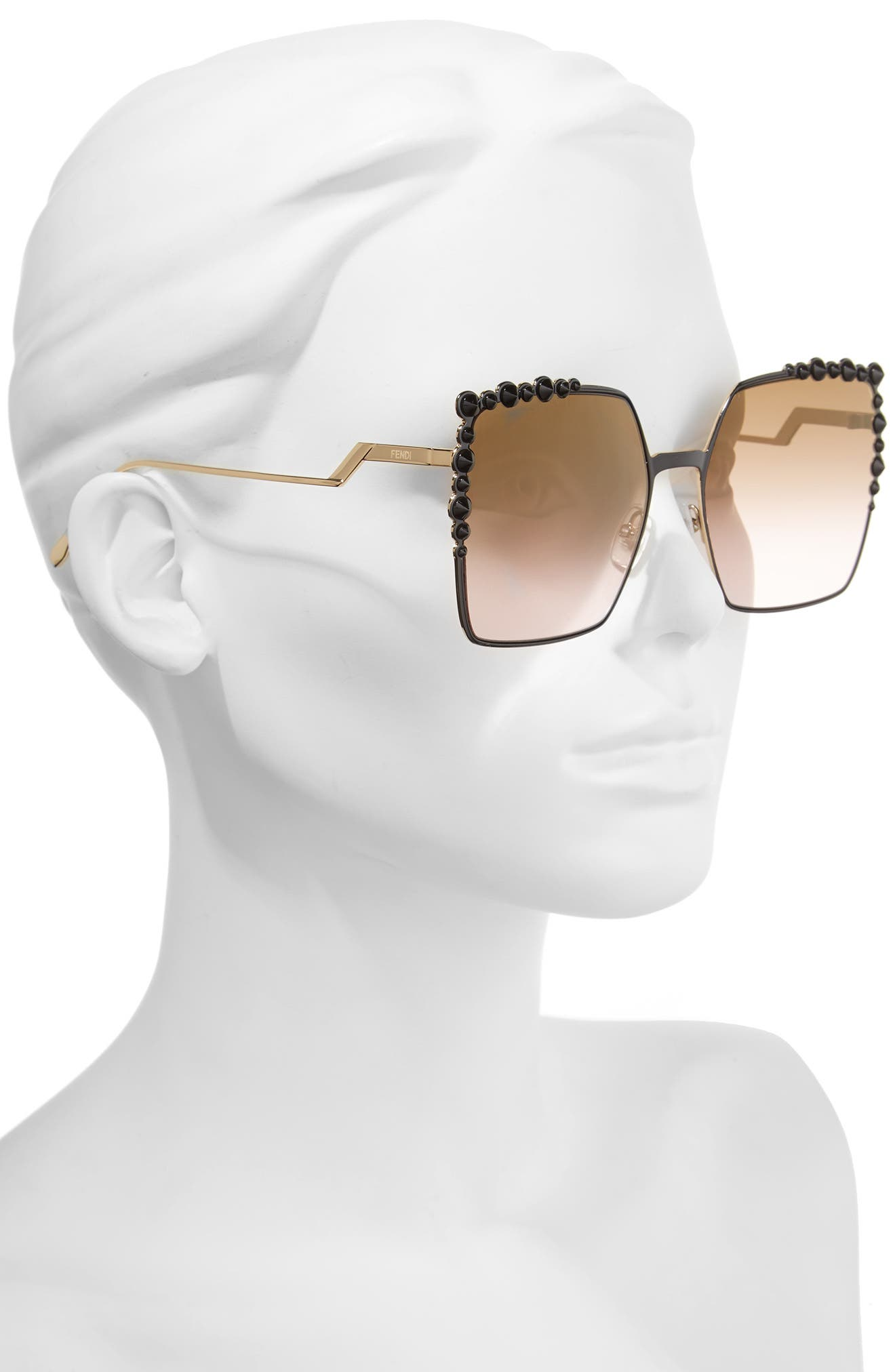 Alternate Image 2  - Fendi 60mm Gradient Square Cat Eye Sunglasses