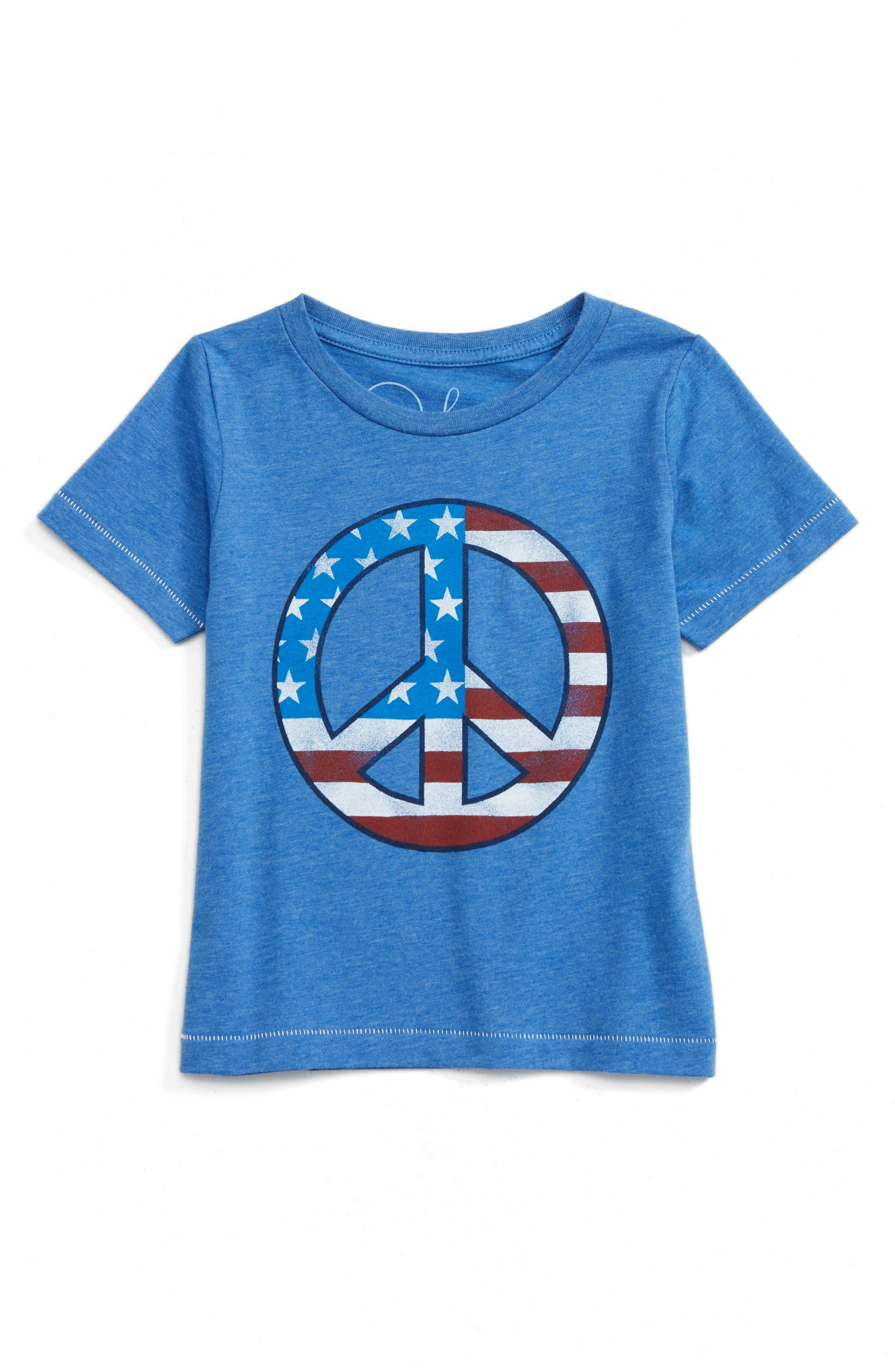 Peek Peace Flag T-Shirt (Toddler Boys, Little Boys & Big Boys)