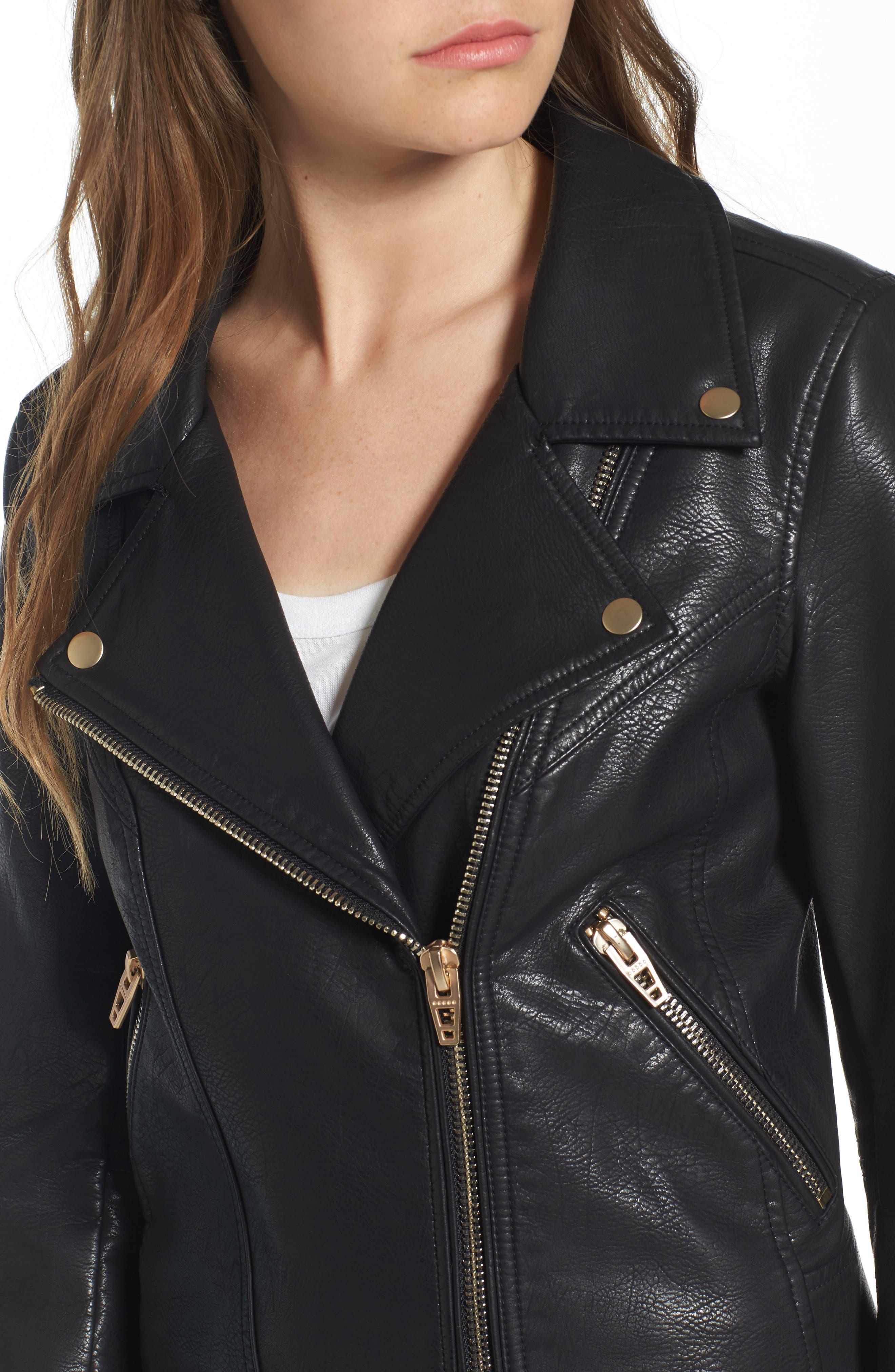 Alternate Image 5  - BLANKNYC Life Changer Moto Jacket