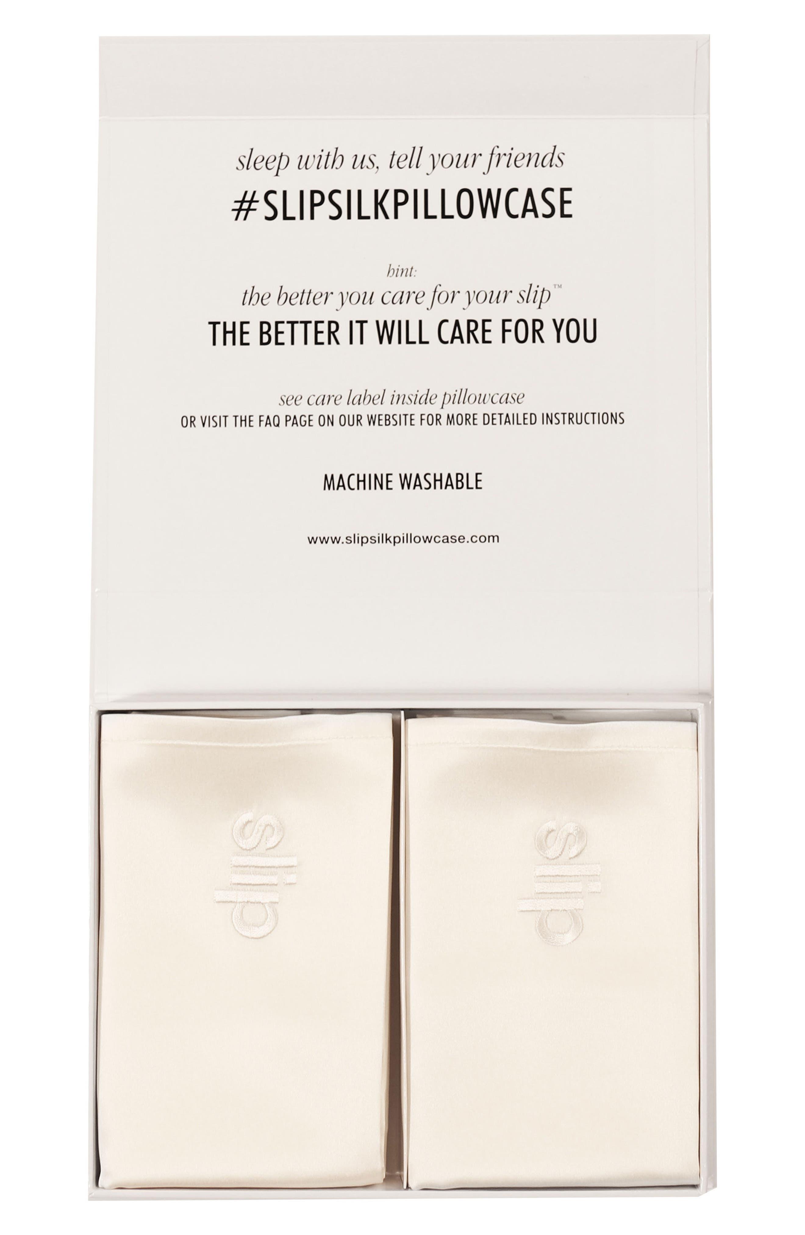 Main Image - slip™ for beauty sleep Slipsilk™ Pure Silk Queen Pillowcases ($158 Value)