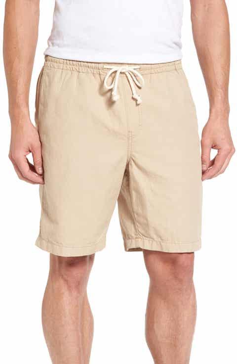 Nordstrom Men's Shop Cotton   Linen Blend Shorts