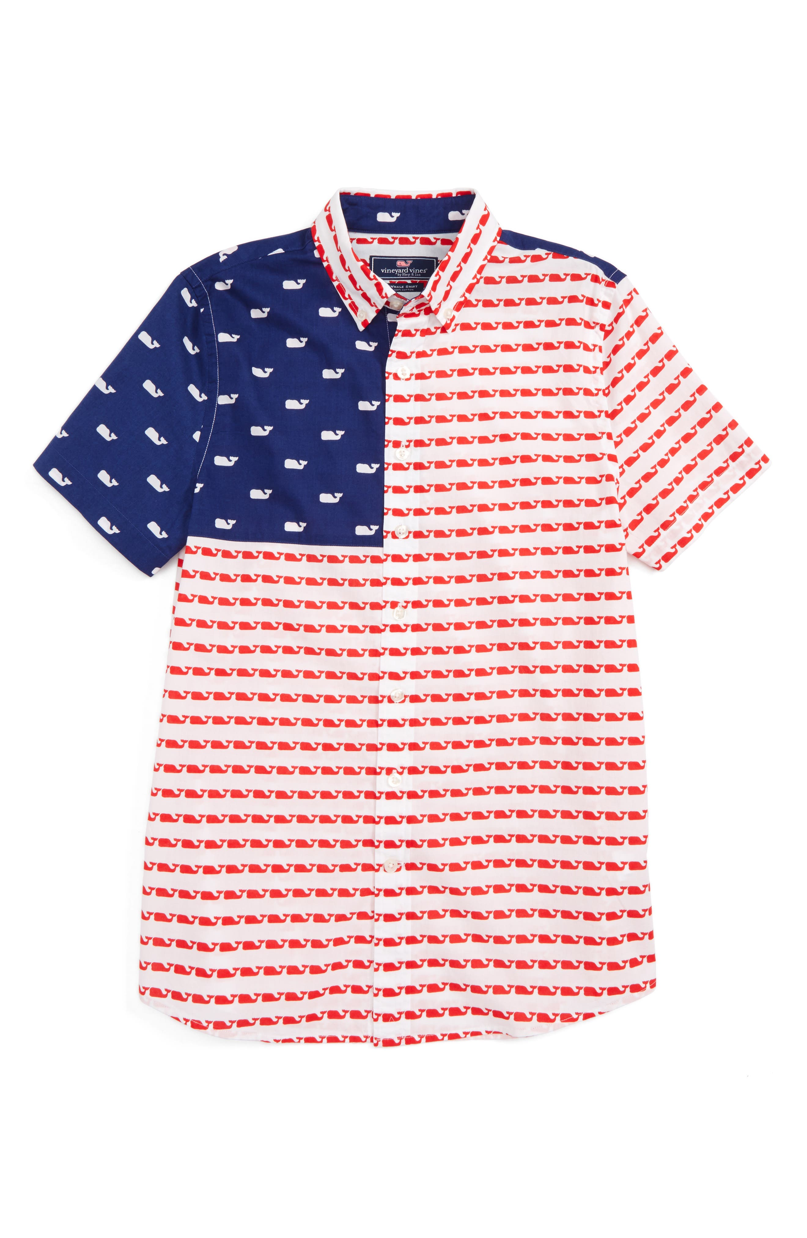 Vineyard Vines USA Whale Shirt (Toddler Boys, Little Boys & Big Boys)