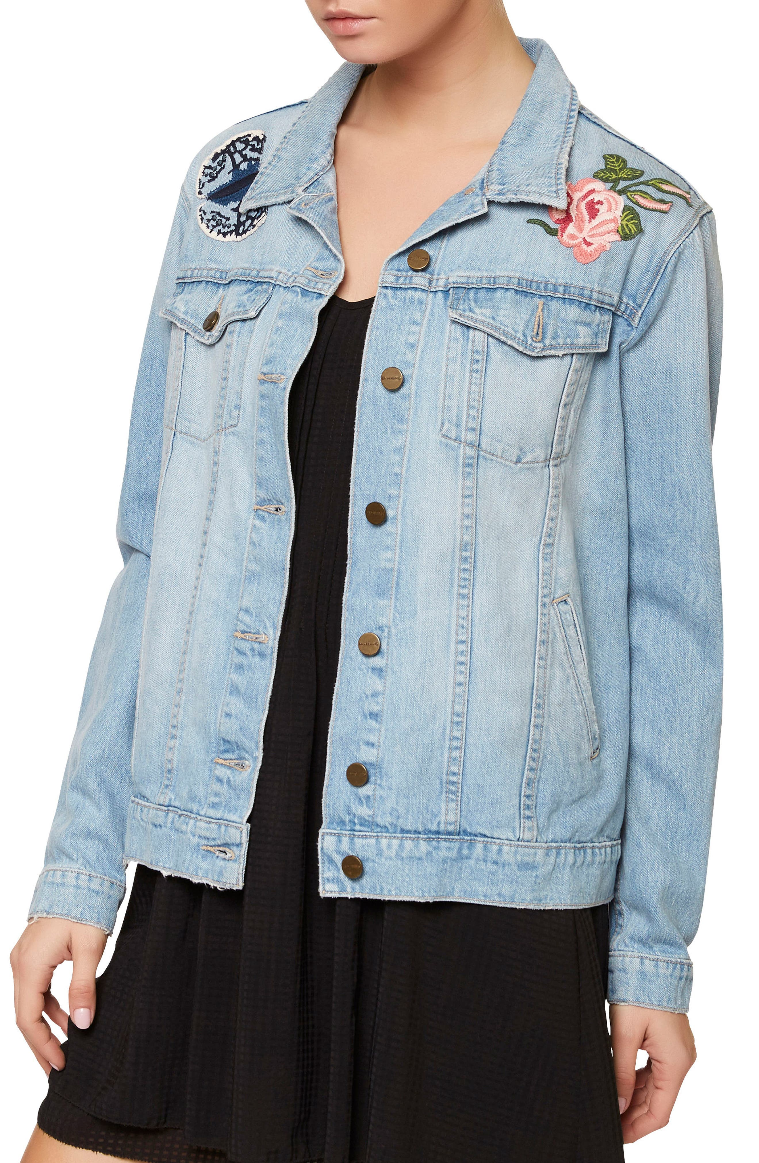 Sanctuary Butterfly Obsessed Denim Jacket