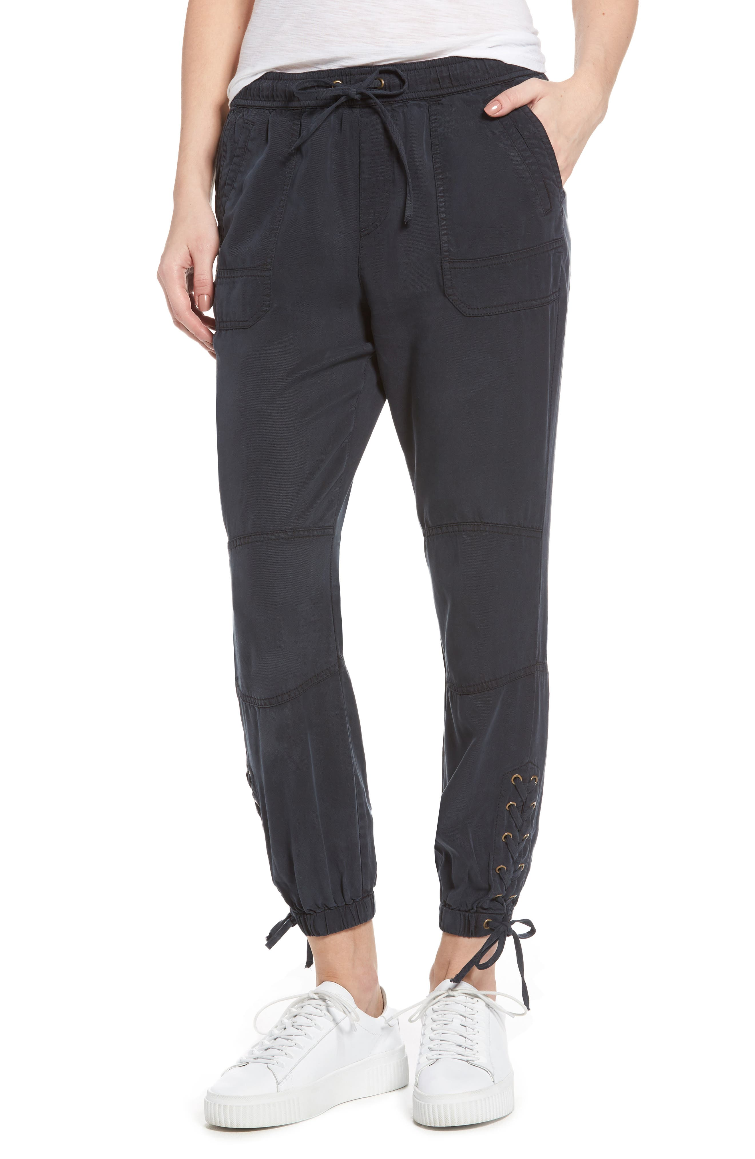 Pam & Gela Lace-Up Jogger Pants