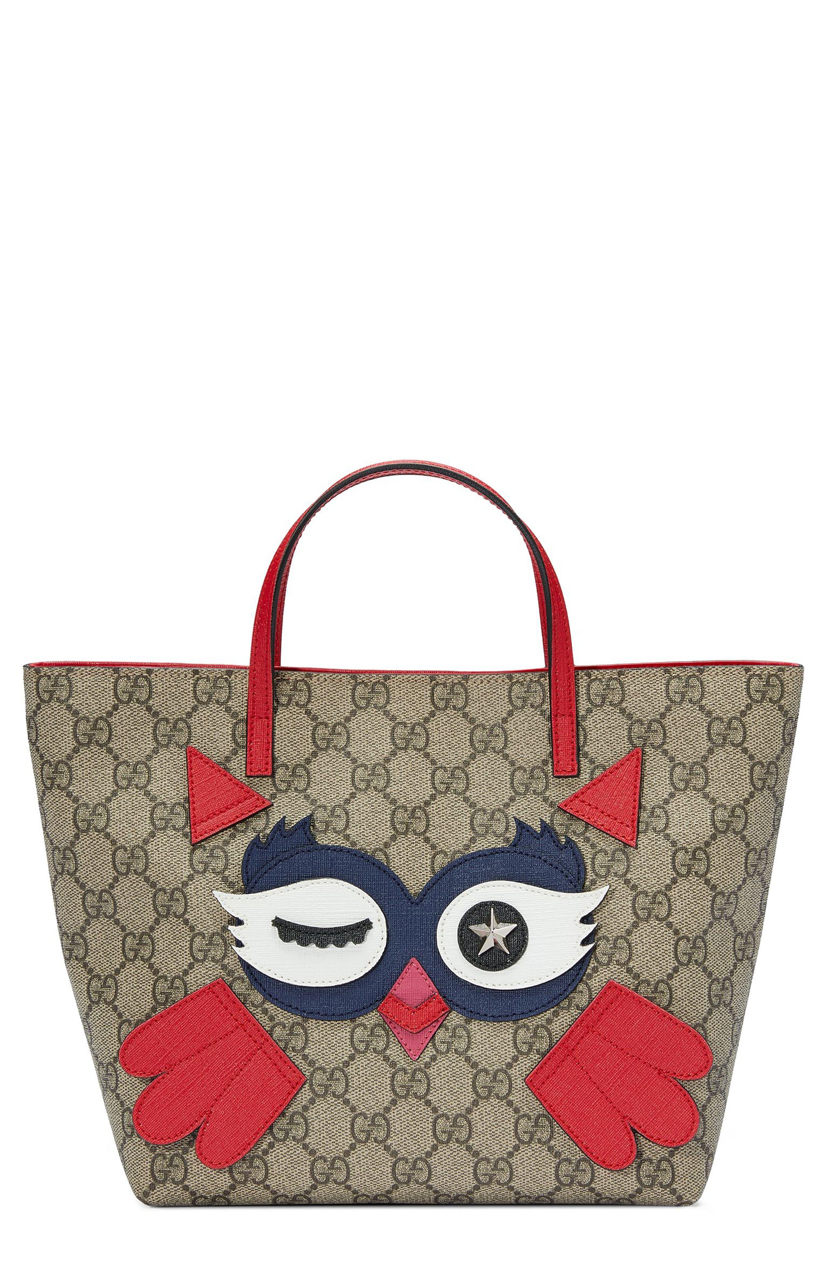 Gucci Owl Face Tote
