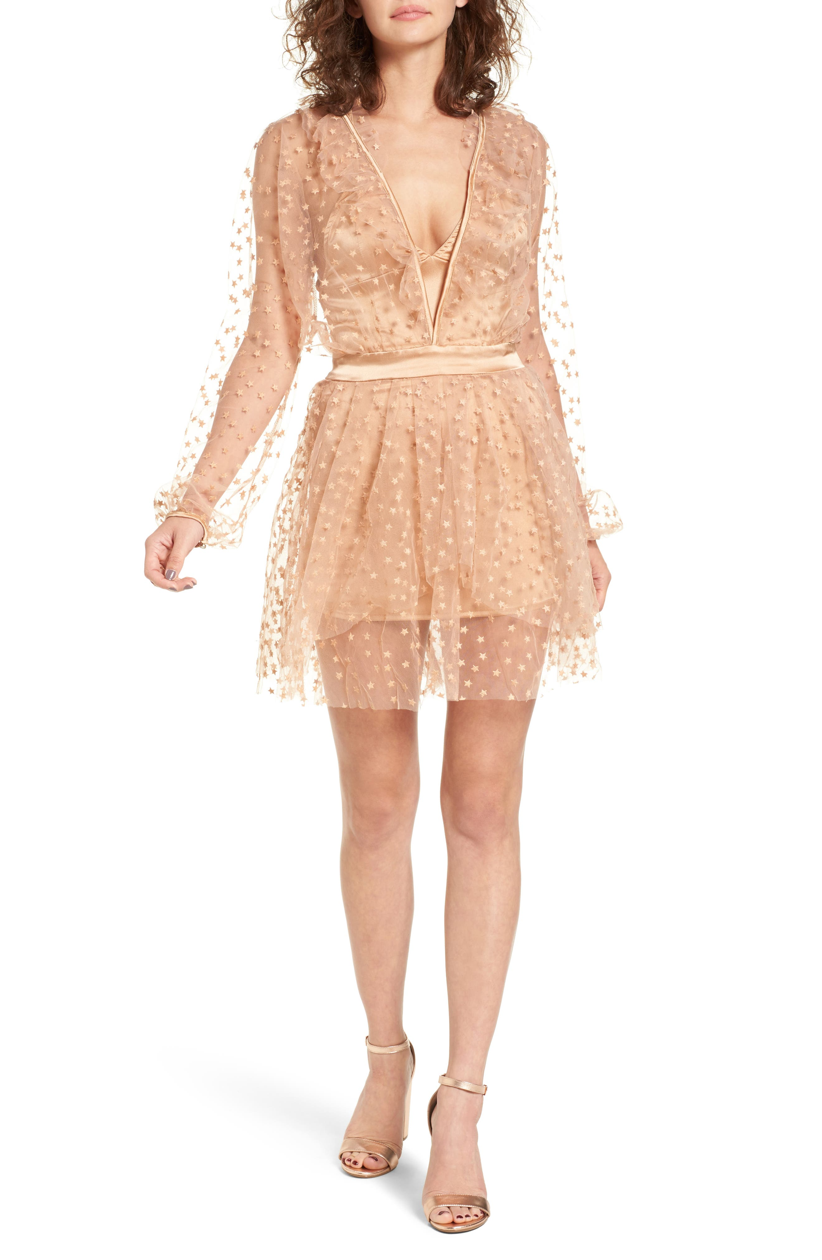 For Love & Lemons All That Glitter Minidress