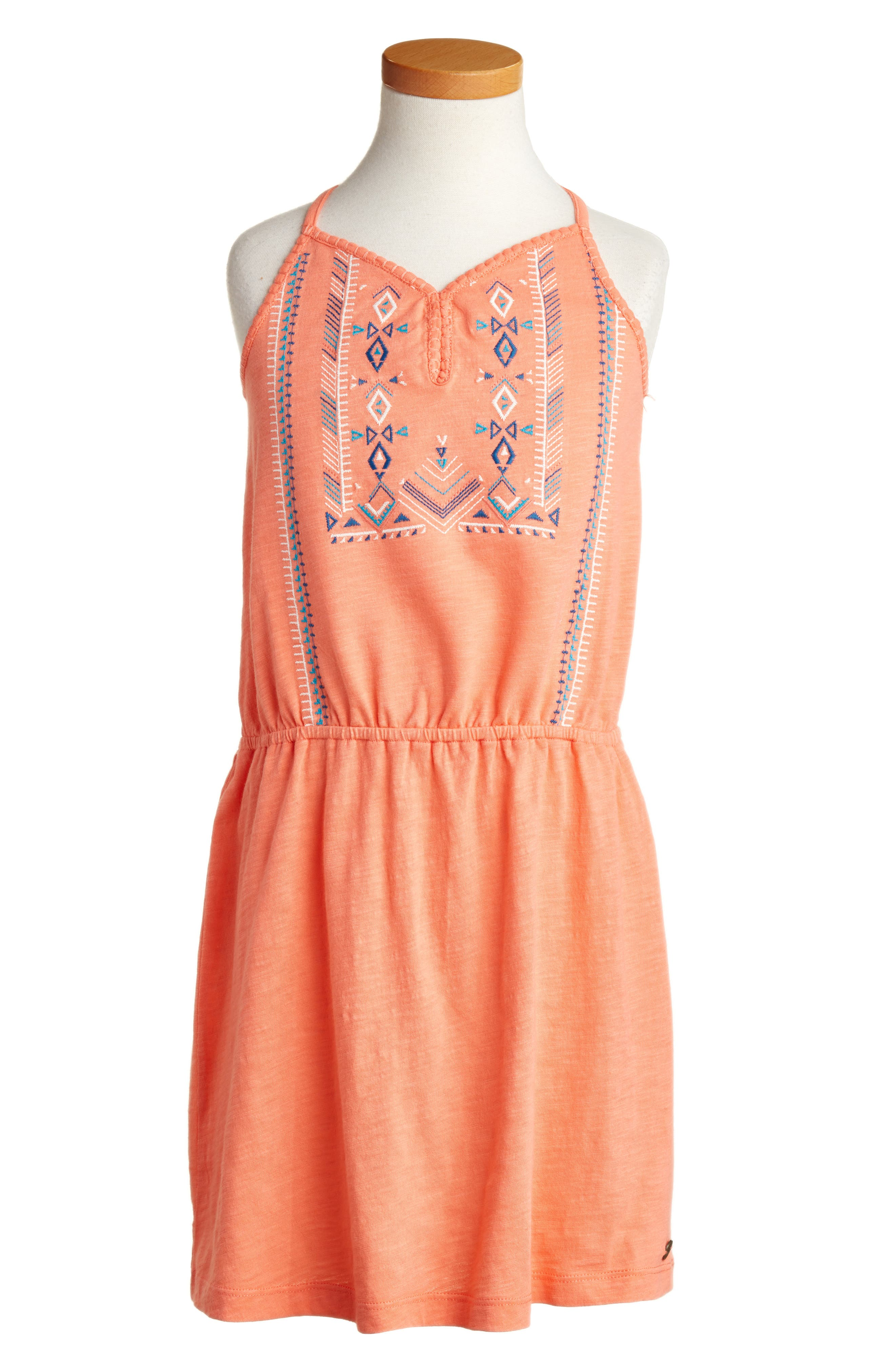 Roxy Nice Cream Embroidered Dress (Big Girls)