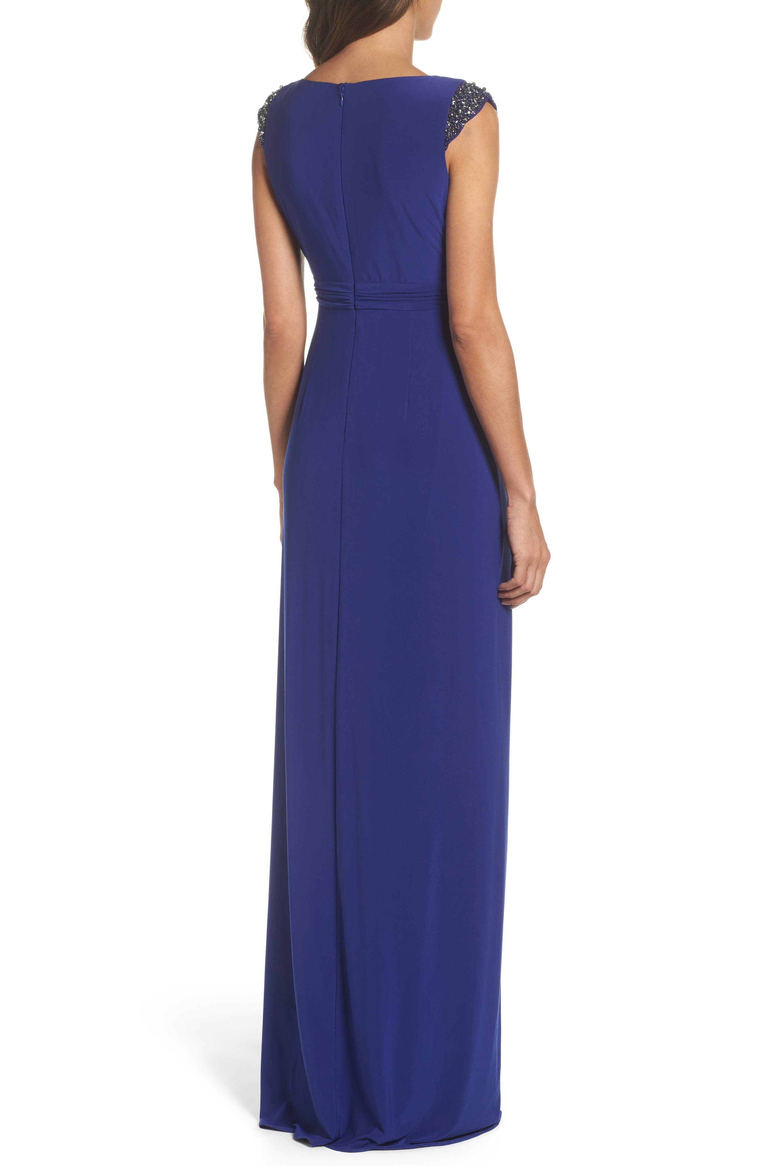 Alternate Image 2  - Adrianna Papell Jersey Gown