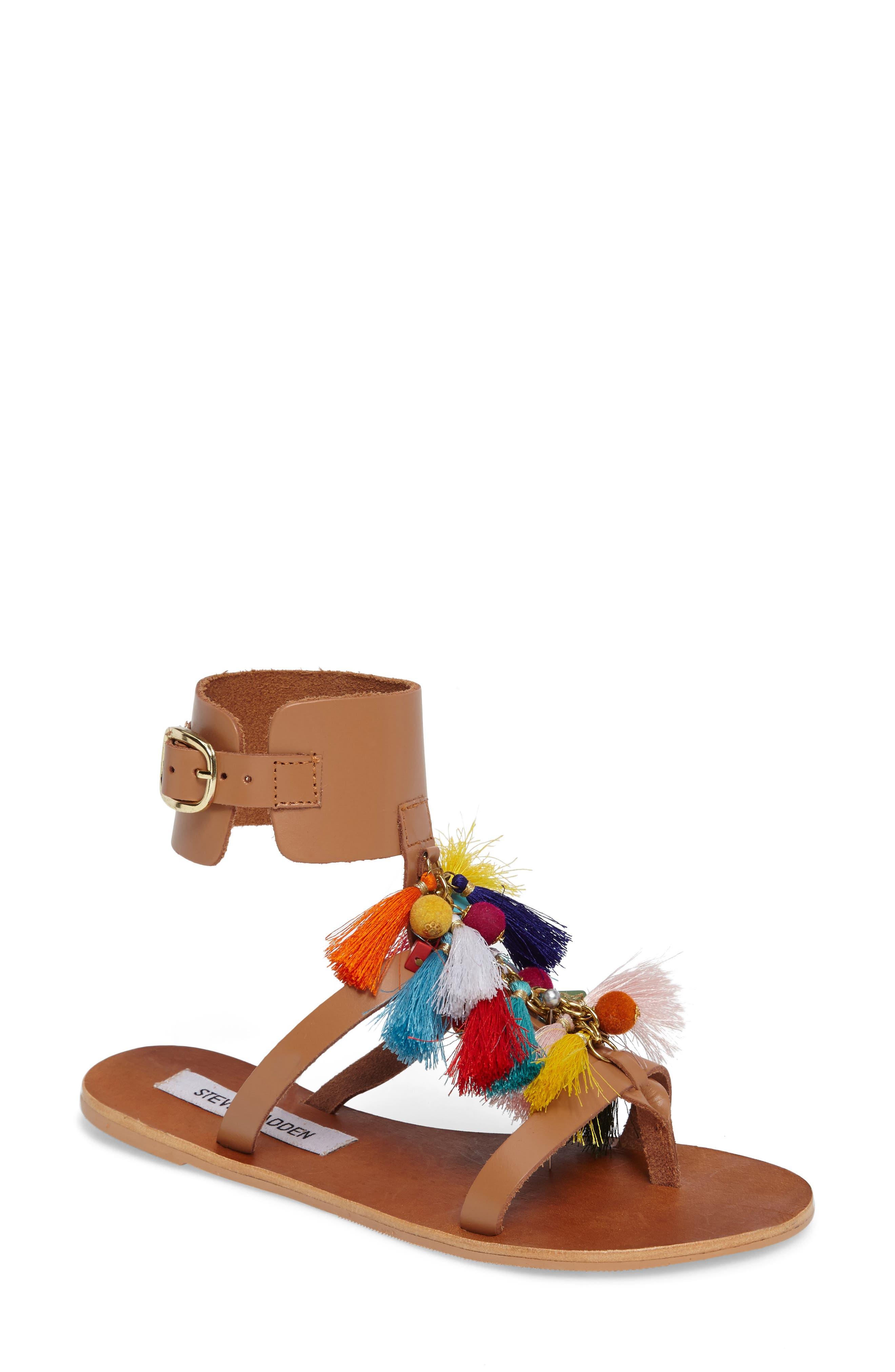 Steve Madden Colorful Tassel Sandal (Women)