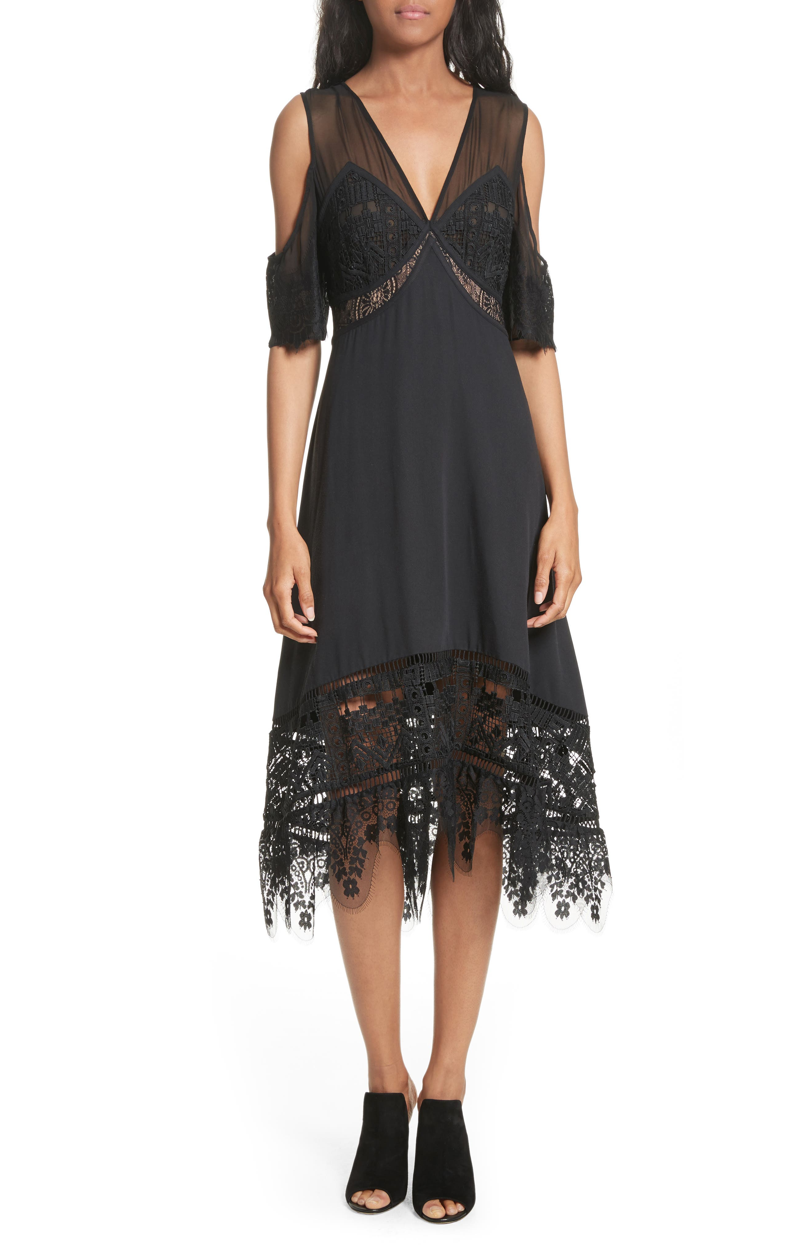 Tracy Reese Poetic Cold Shoulder Dress