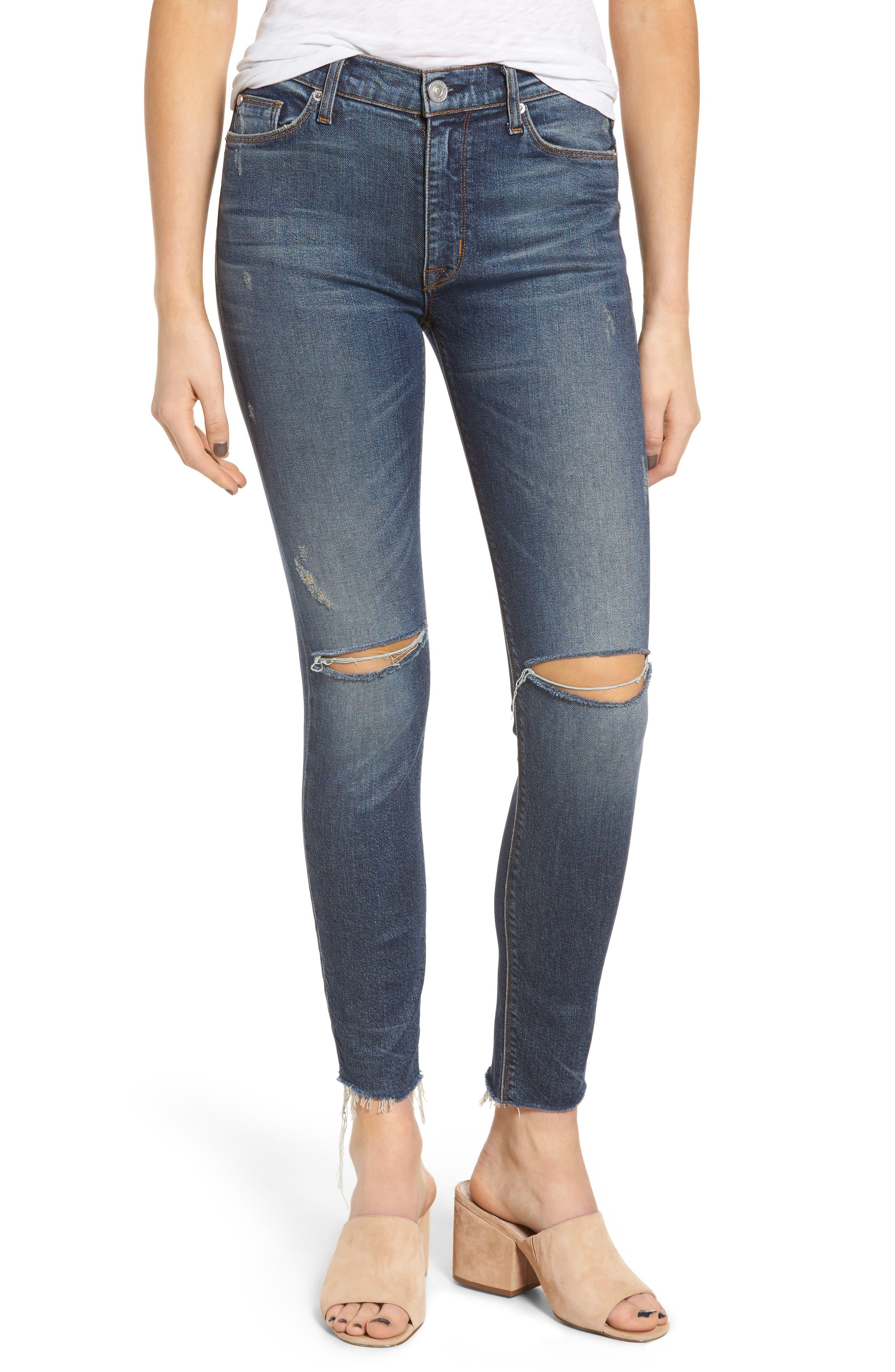 Hudson Jeans Barbara High Waist Skinny Jeans (Nowhere Girl)