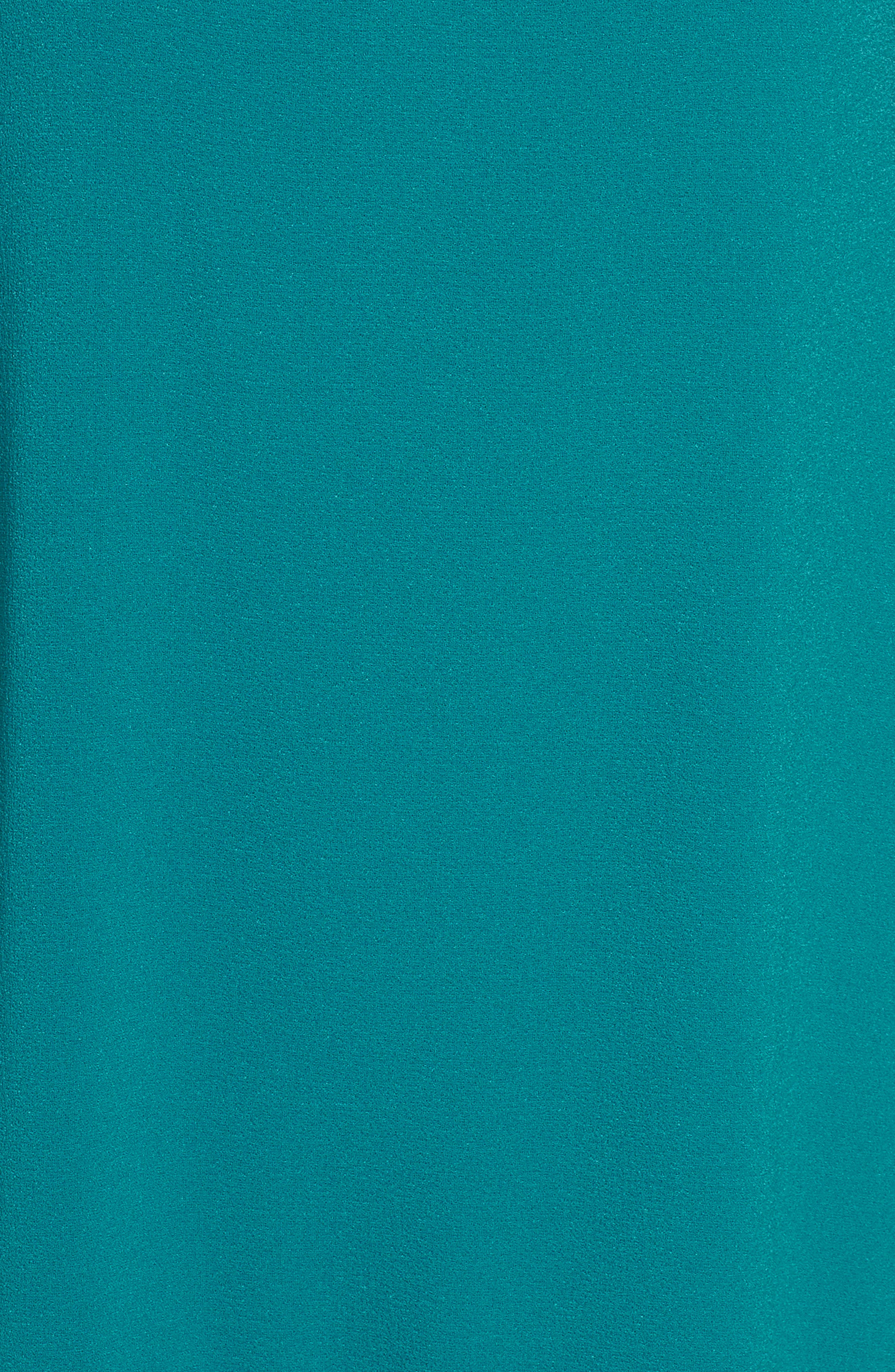 Alternate Image 6  - Charles Henry High/Low Ruffle Shift Dress (Regular & Petite)