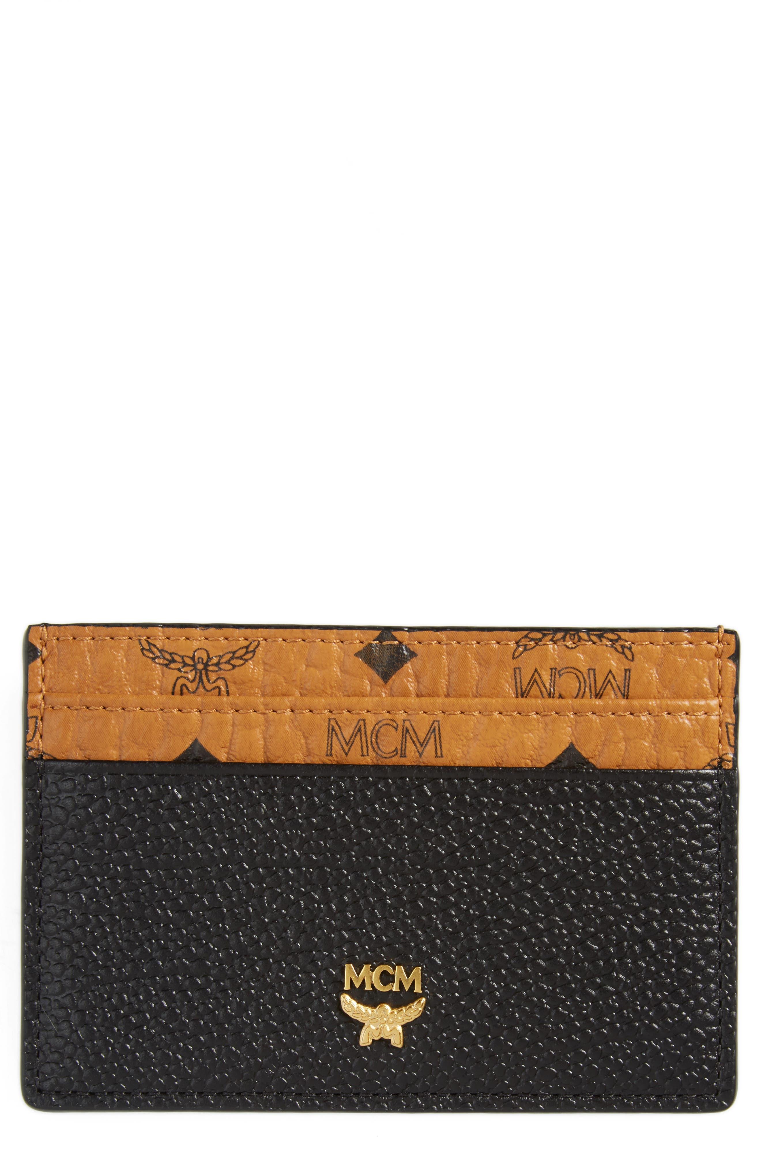 MCM Mini Corina Visetos Coated Canvas & Leather Card Case
