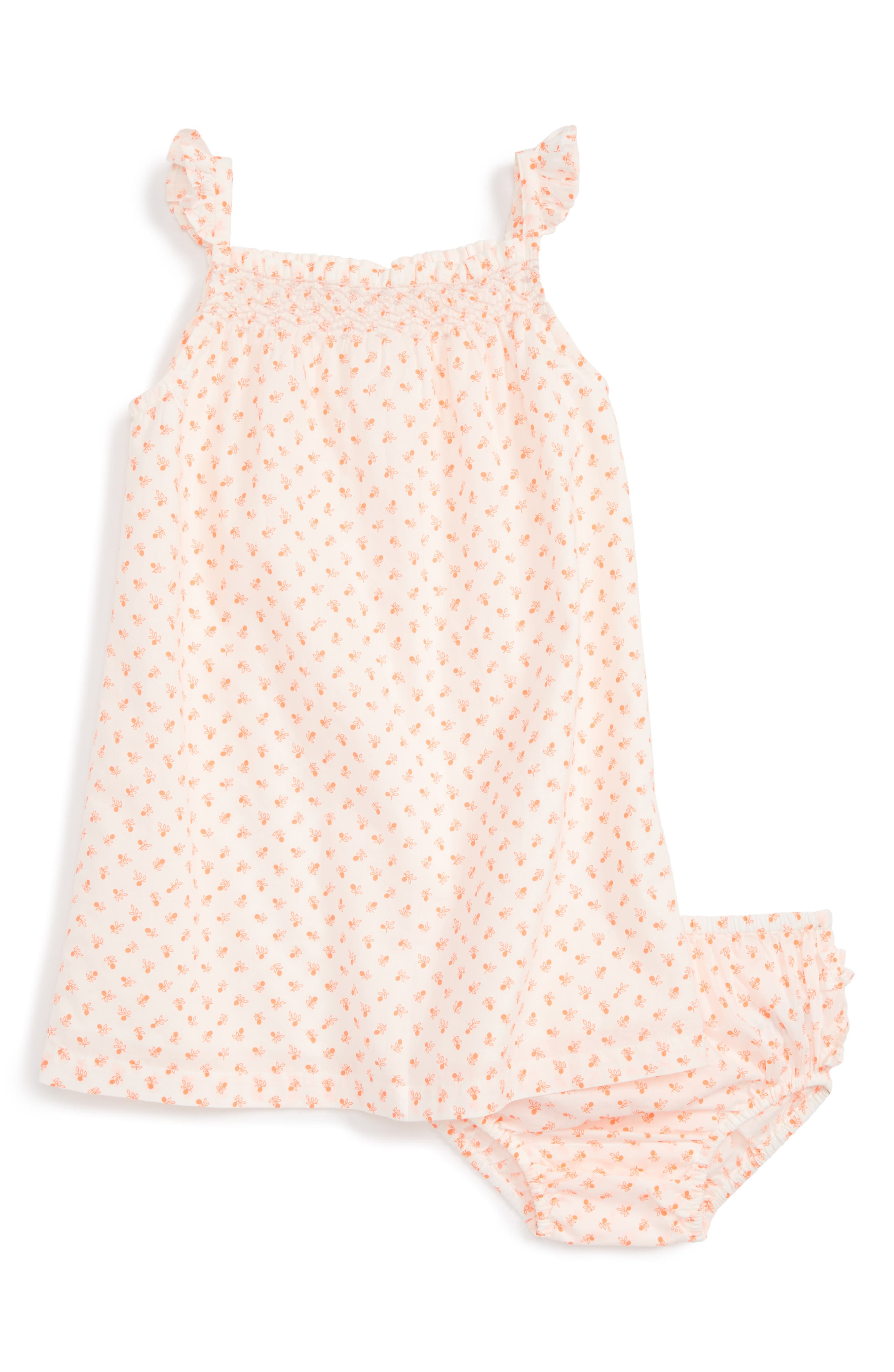 Mini Boden Summer Smocked Dress (Baby Girls)