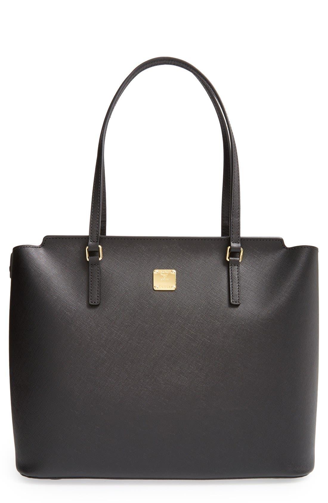 Main Image - MCM 'Medium Project' Saffiano Leather Shopper
